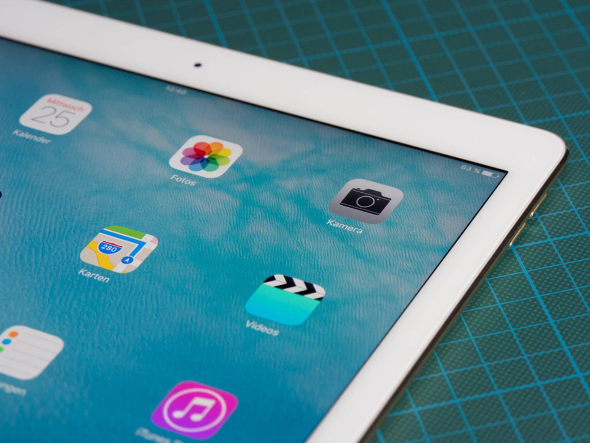 Zu groß für 3D Touch: Das iPad Pro.