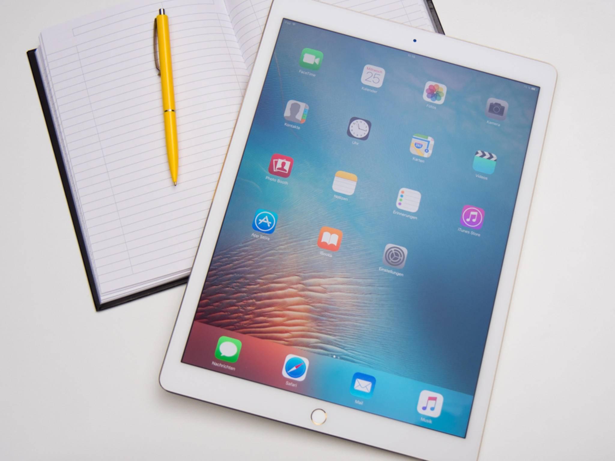 Das iPad Pro ist erhältlich mit 32 GB, 64 GB und 128 GB Speicher.