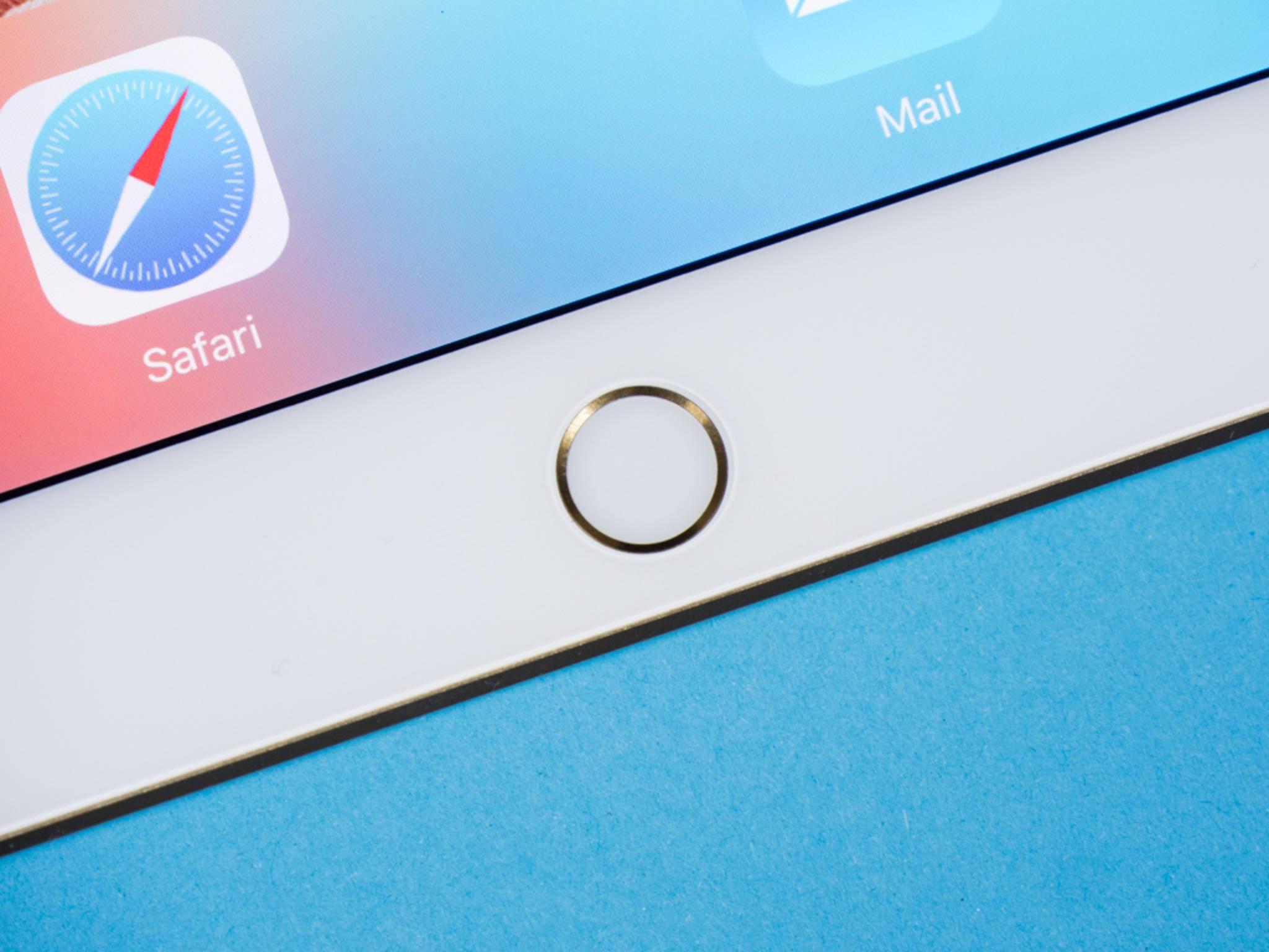 Der Touch ID-Sensor erlaubt die Idenfitizierung per Fingerabdruck.