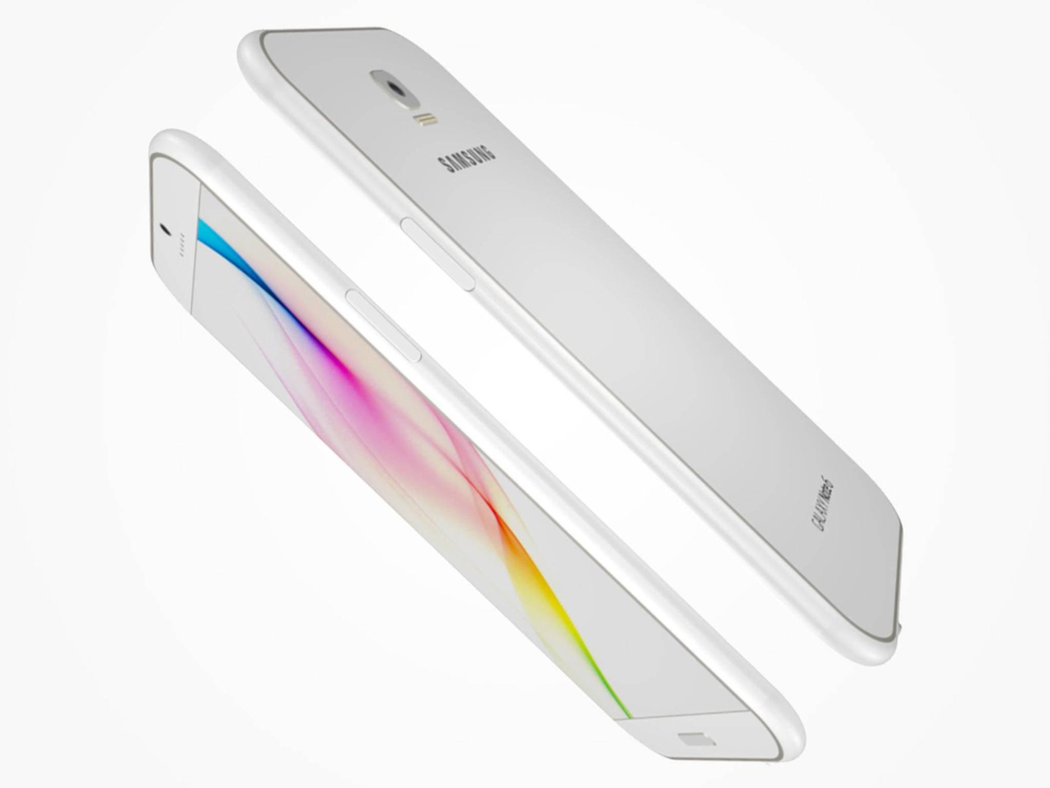 So könnte das Galaxy Note 6 laut einem Konzept-Renderbild aussehen.