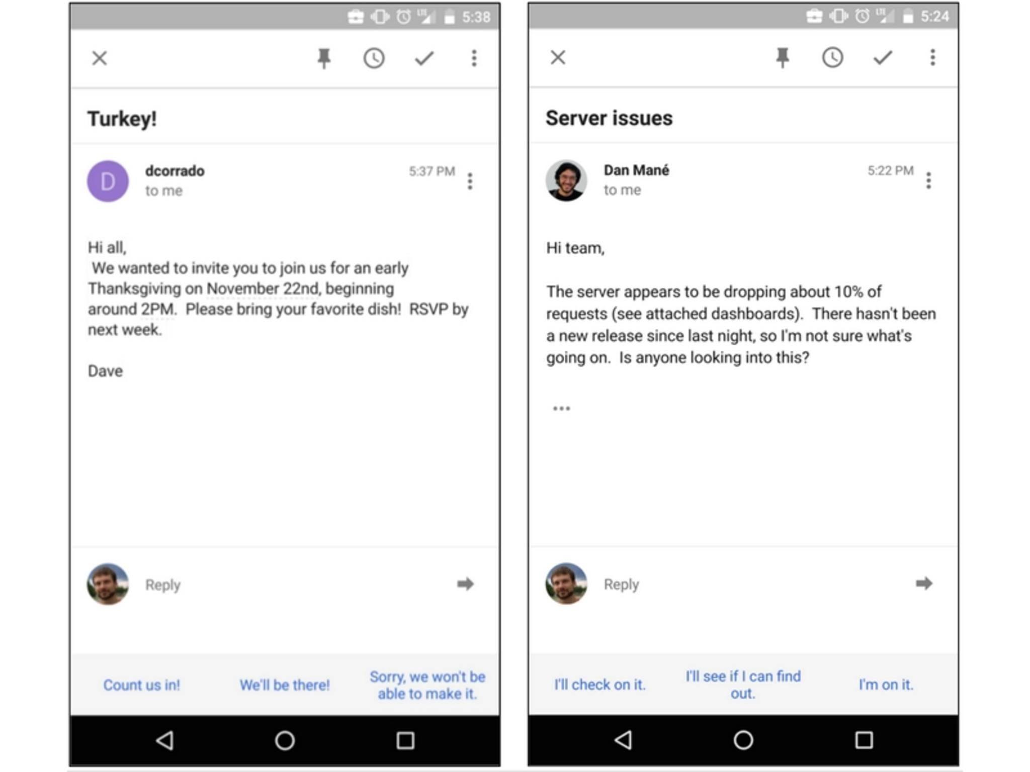 Das neue Tool schlägt eigenständig Antworten auf E-Mails vor.