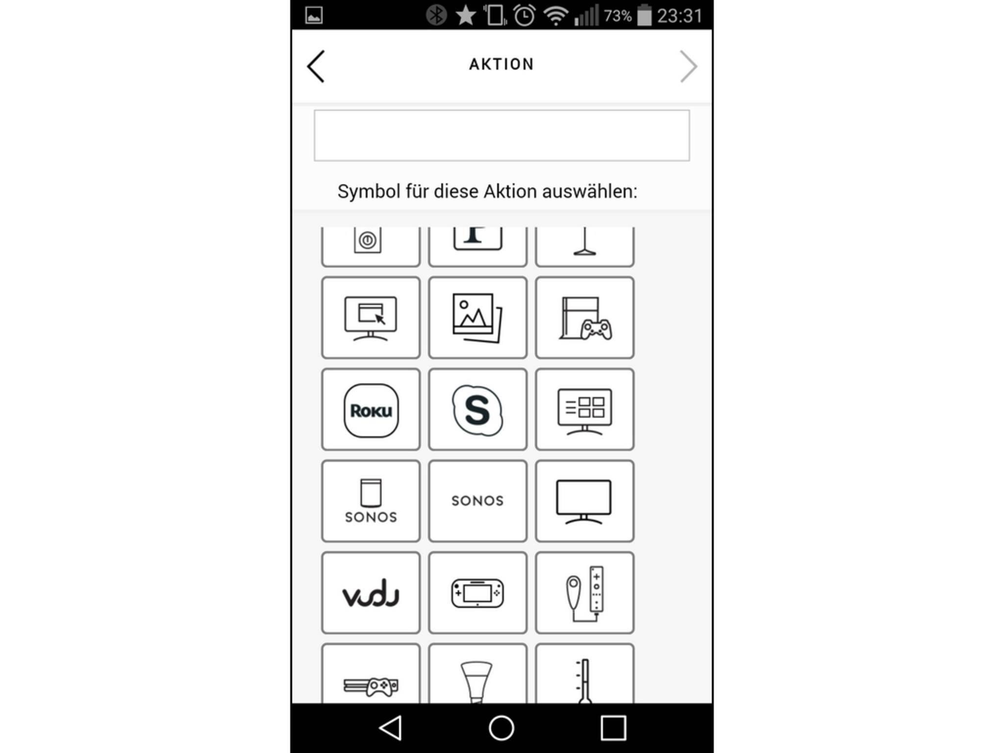 Auf Wunsch kann der Nutzer jedem Gerät ein passendes Icon zuweisen.