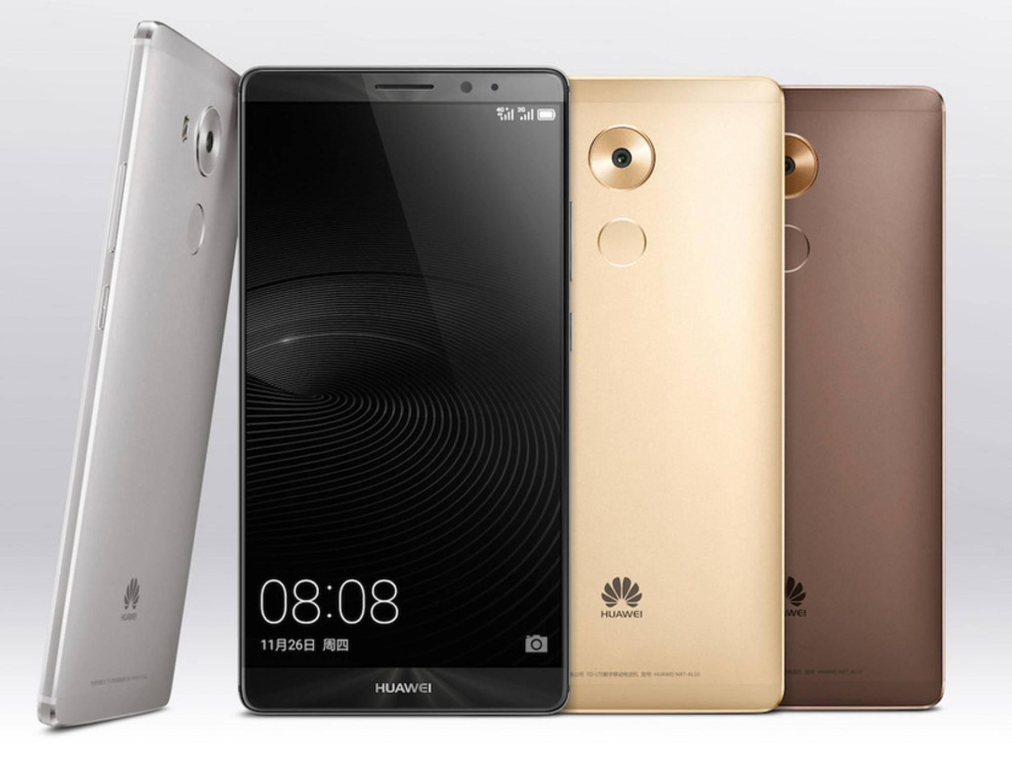 Das Huawei Mate 8 kommt mit Riesen-Display und Riesen-Akku.