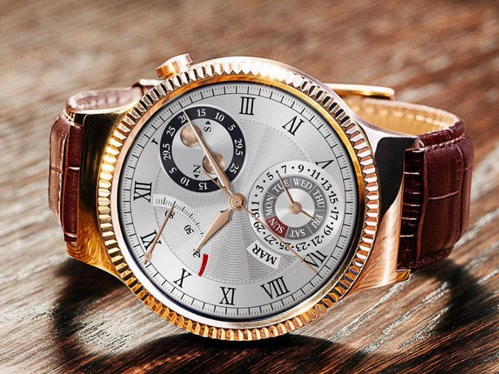 Die Huawei Watch gibt es nun auch in Rosegold.