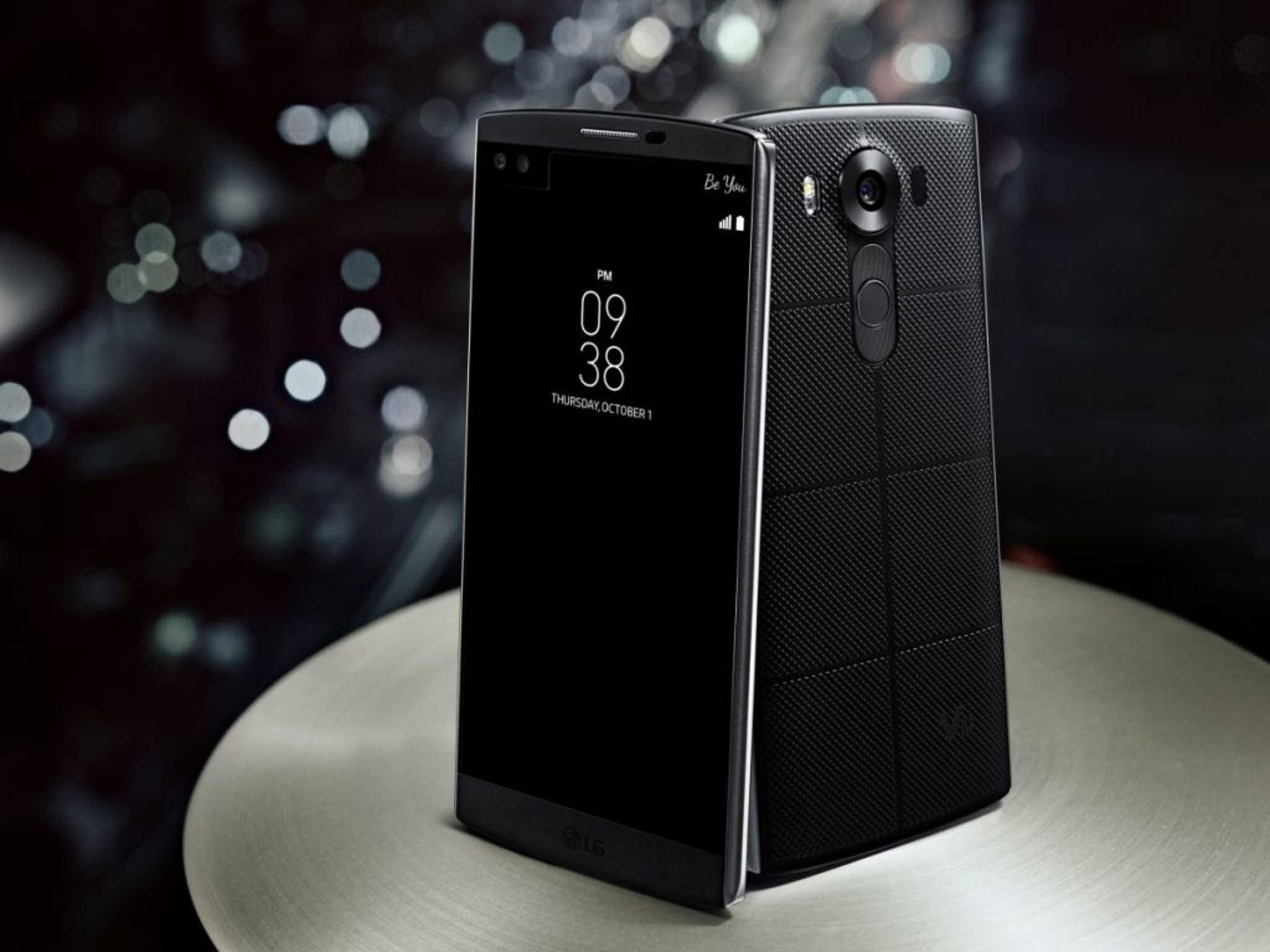 Das LG V10 zeichnet sich durch ein kleines Zusatz-Display aus.