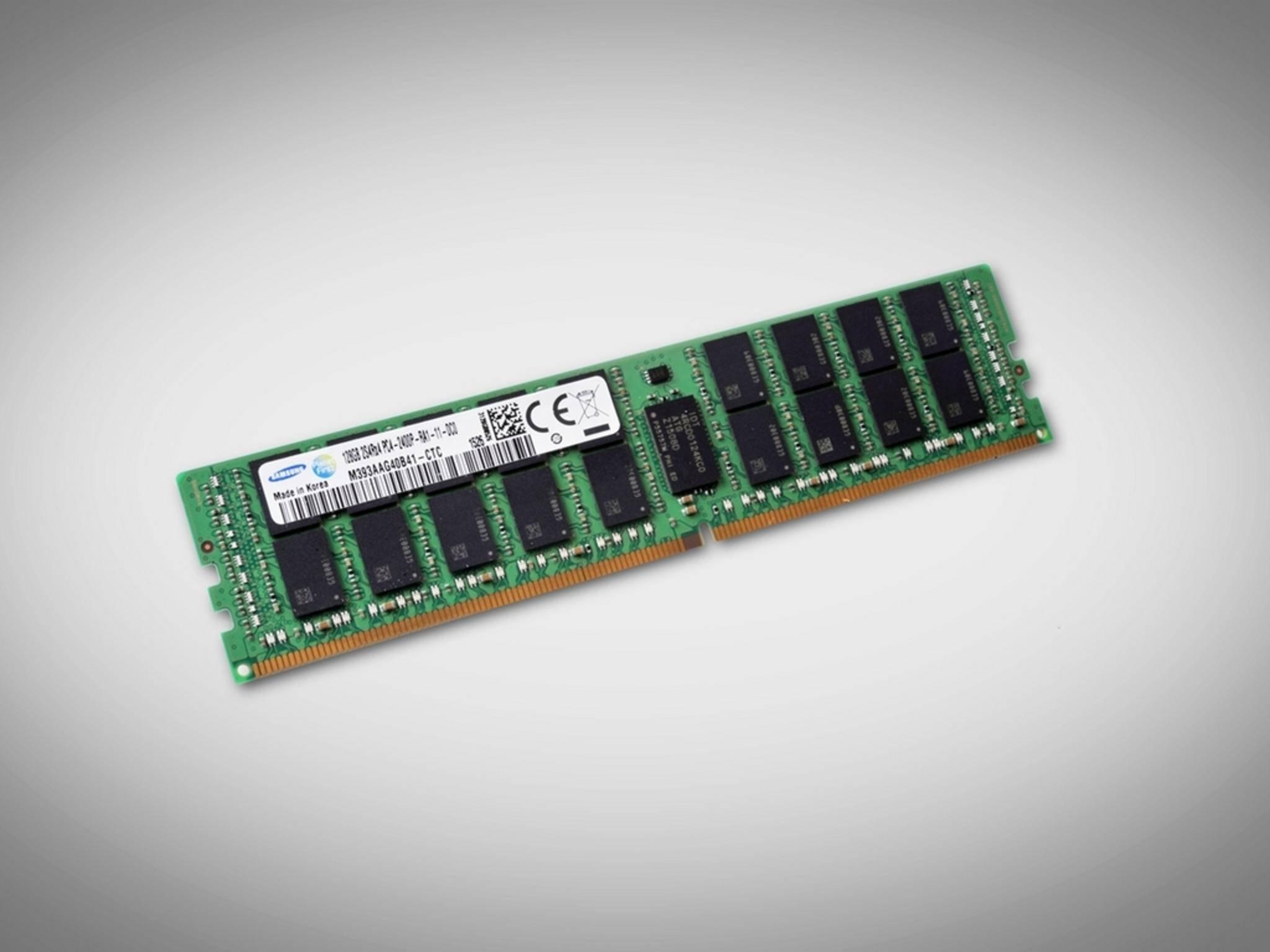 Samsung produziert RAM-Riegel mit 128 GB.