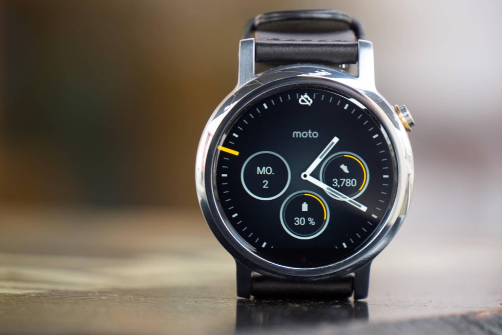 Am meisten Auswahl bietet Motorola bei der Moto 360 mit dem Moto Maker.