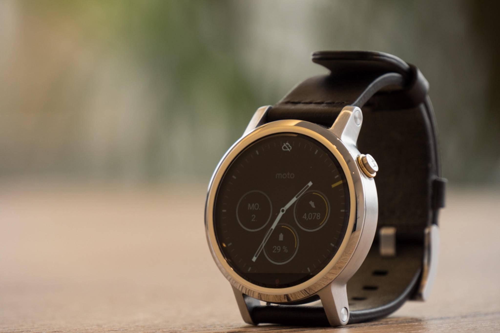 ...und erinnert in ihrer Form an eine echte Uhr.