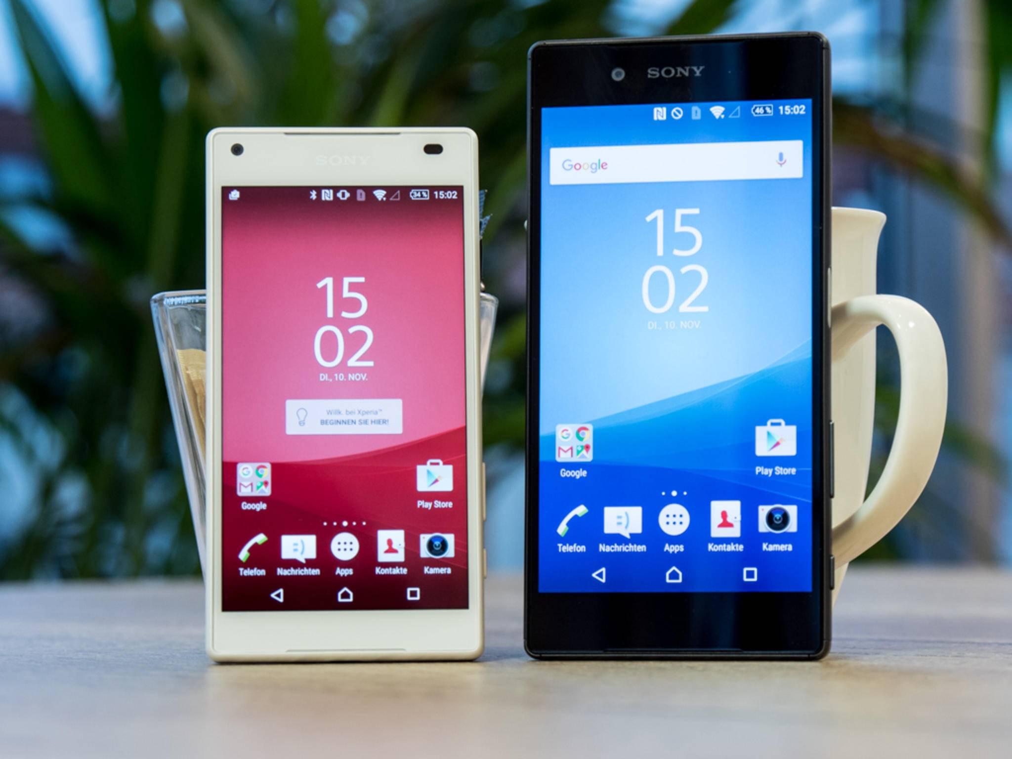 Das Sony Xperia Z5 und das Z5 Compact erhalten ein Software-Update.