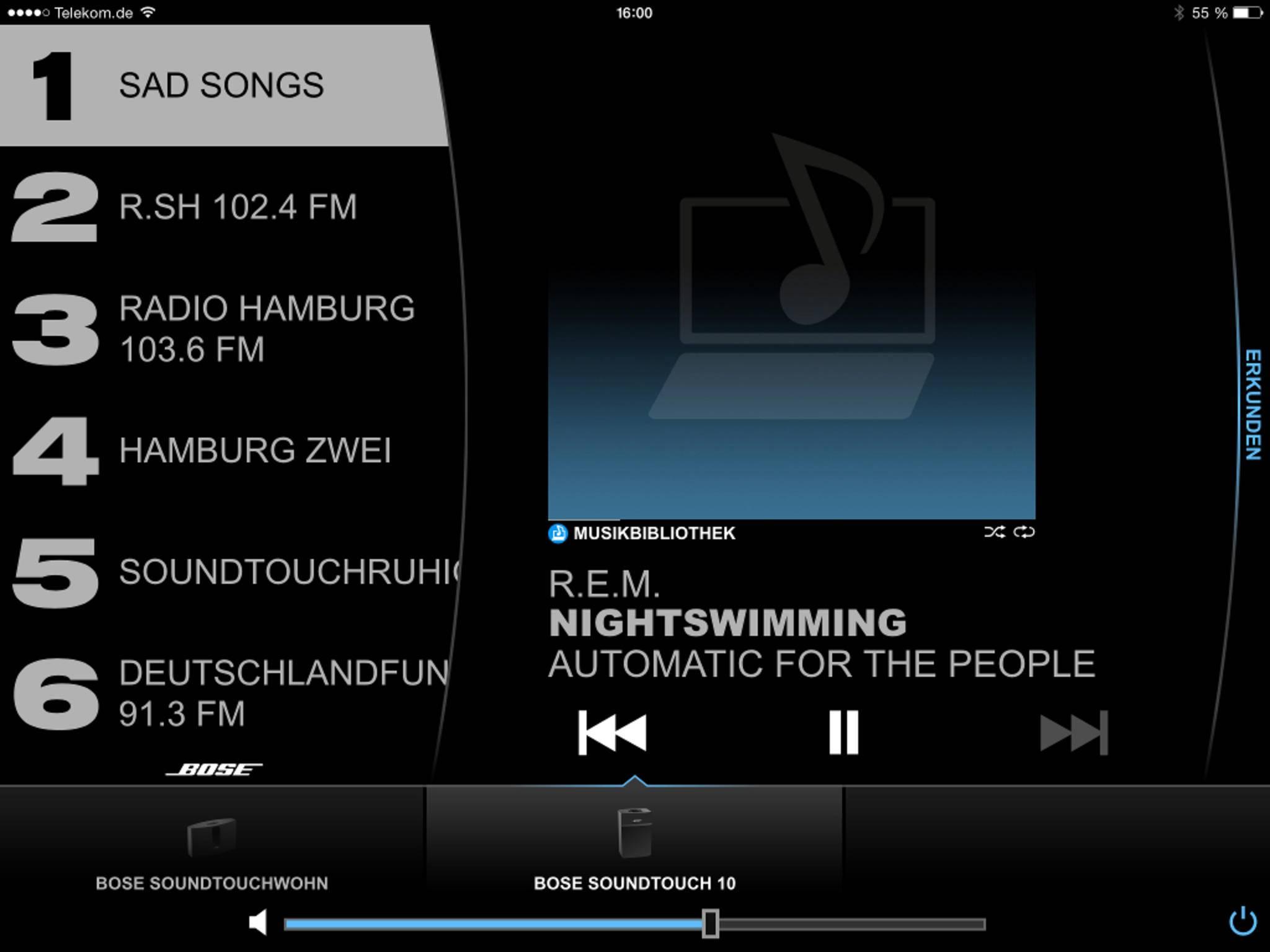Über die Bose-App lassen sich zwei SoundTouch-Systeme koppeln.