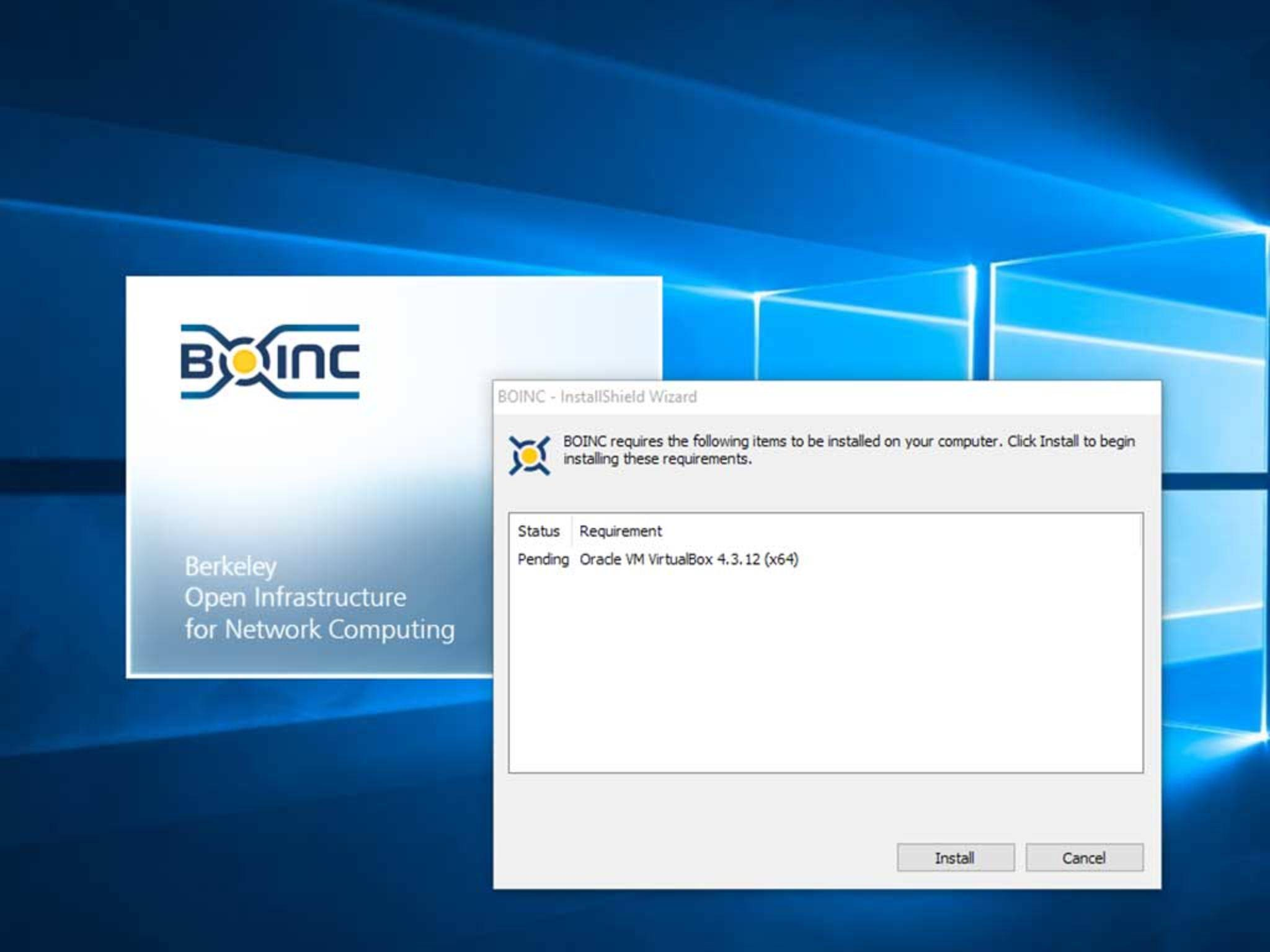Die Installation von Boinc ist denkbar einfach: ...