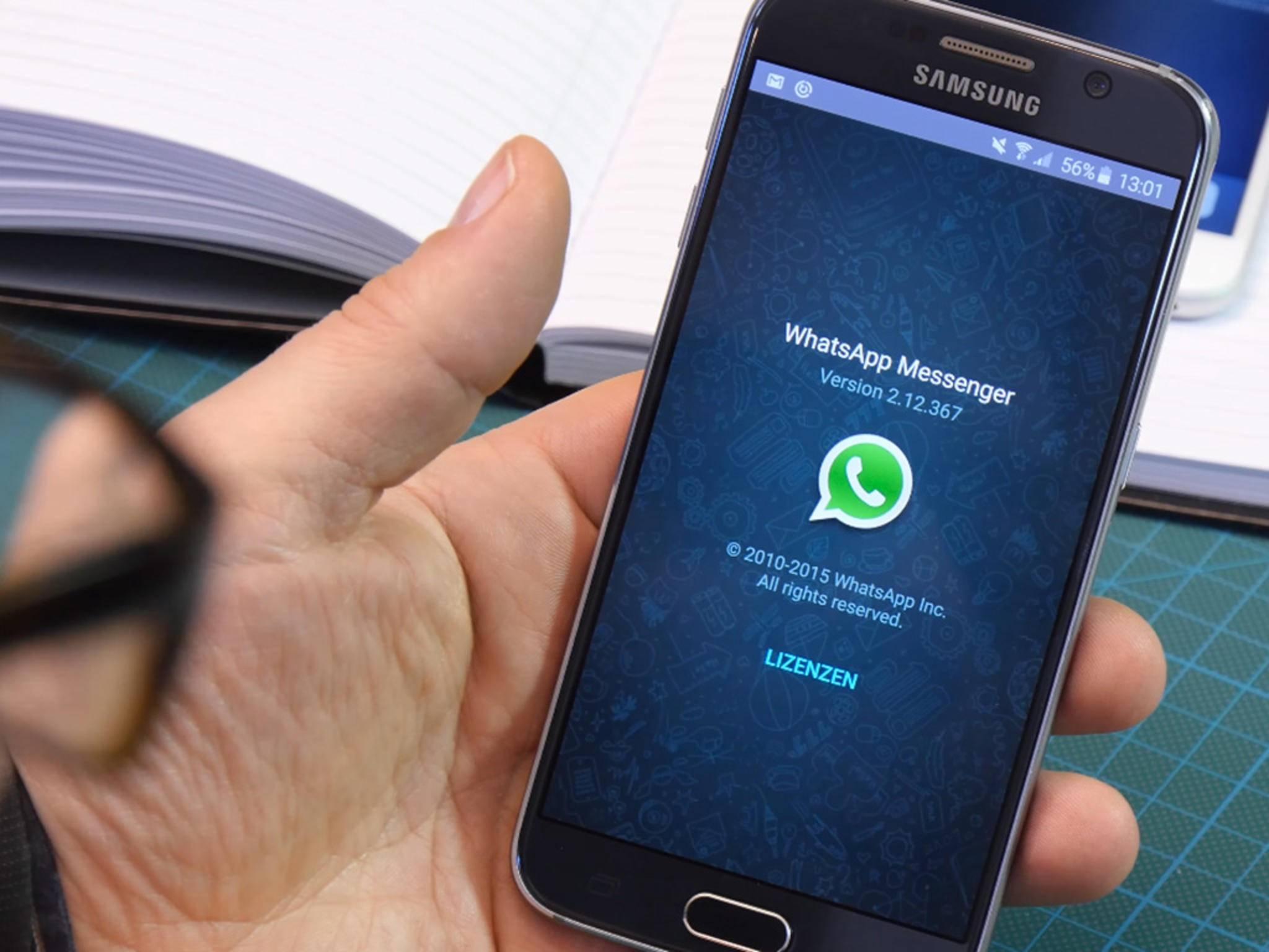 Per WhatsApp kann man vermutlich bald auch Dokumente verschicken.