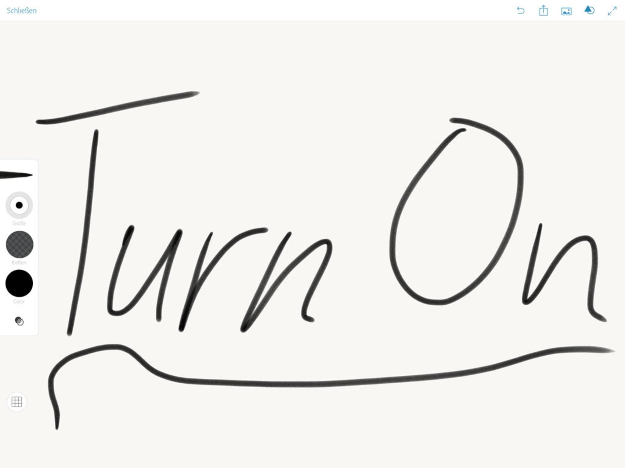 Der Einsatz des Pencils ist besonders in der App Adobe Sketch sinnvoll.