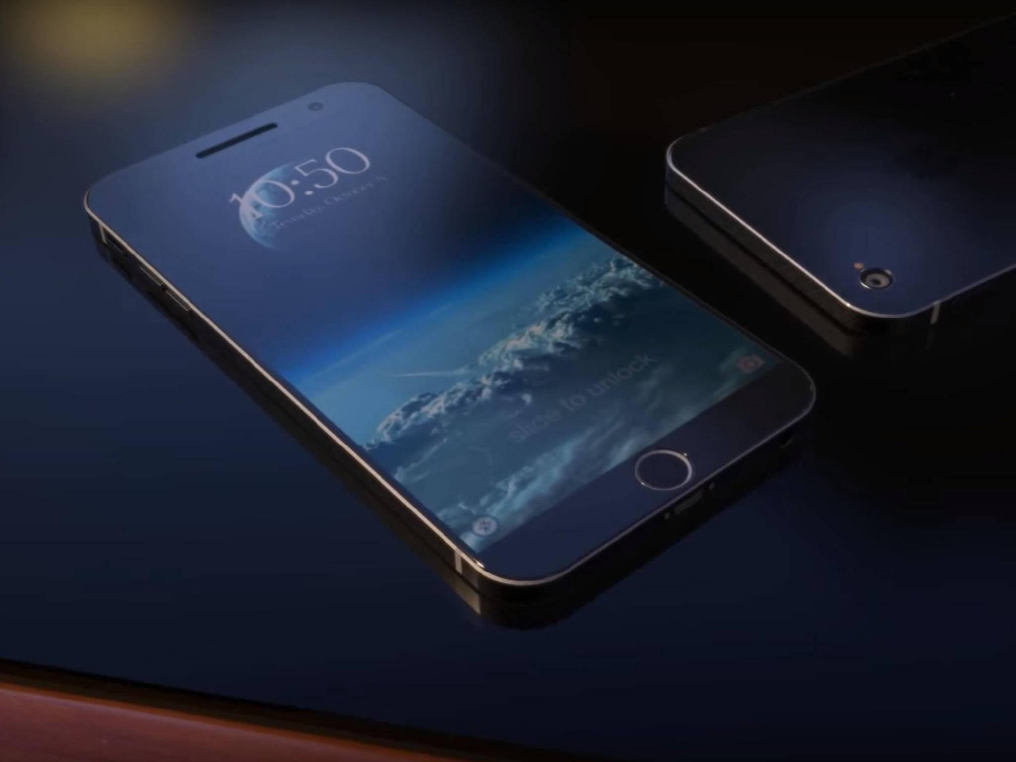 Diese Konzeptstudie des iPhone 7 ähnelt dem im Video gezeigten Gerät.