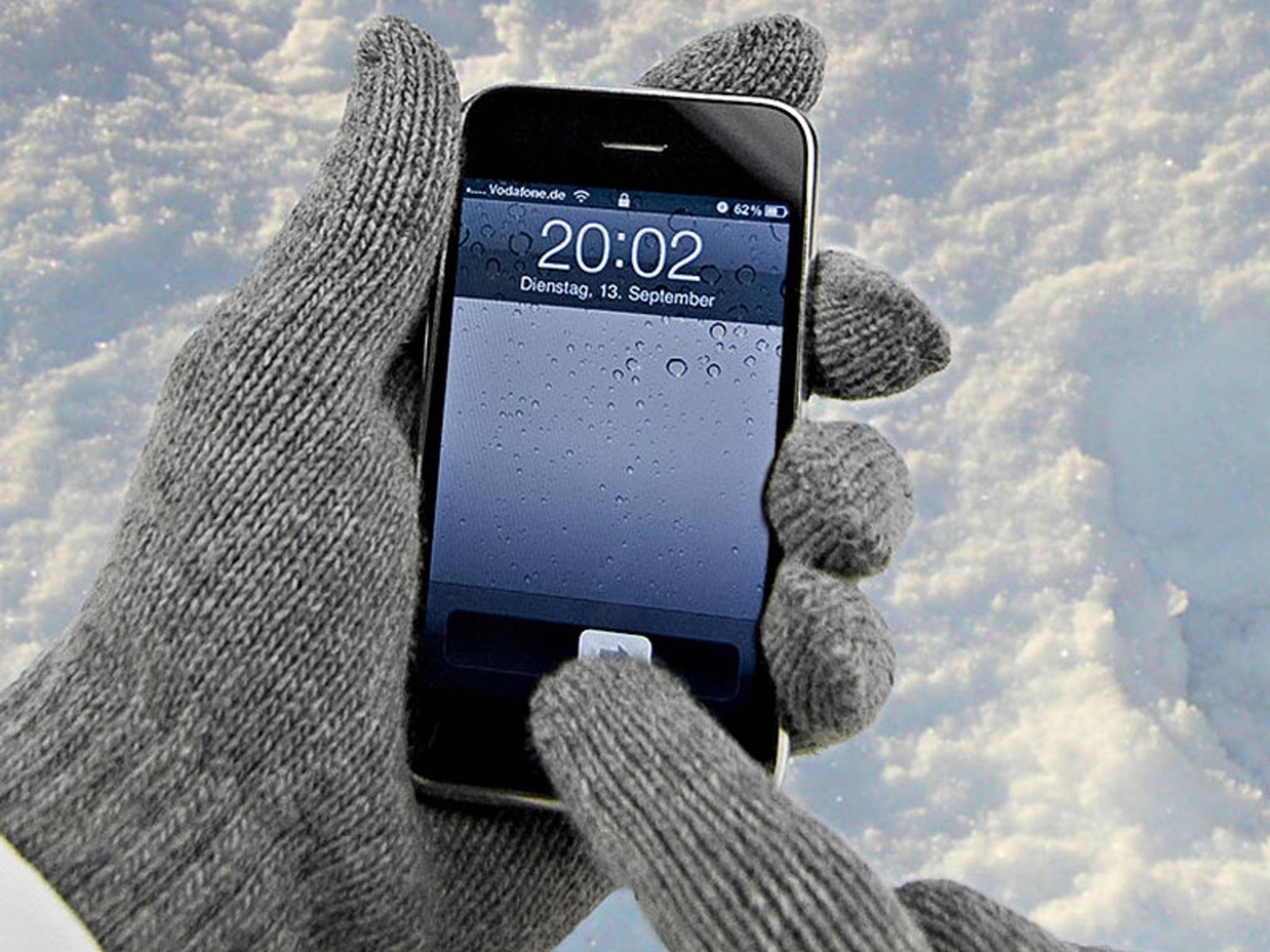 Ein Apple-Patent beschreibt die Bedienung des Touchscreens mit normalen Handschuhen.