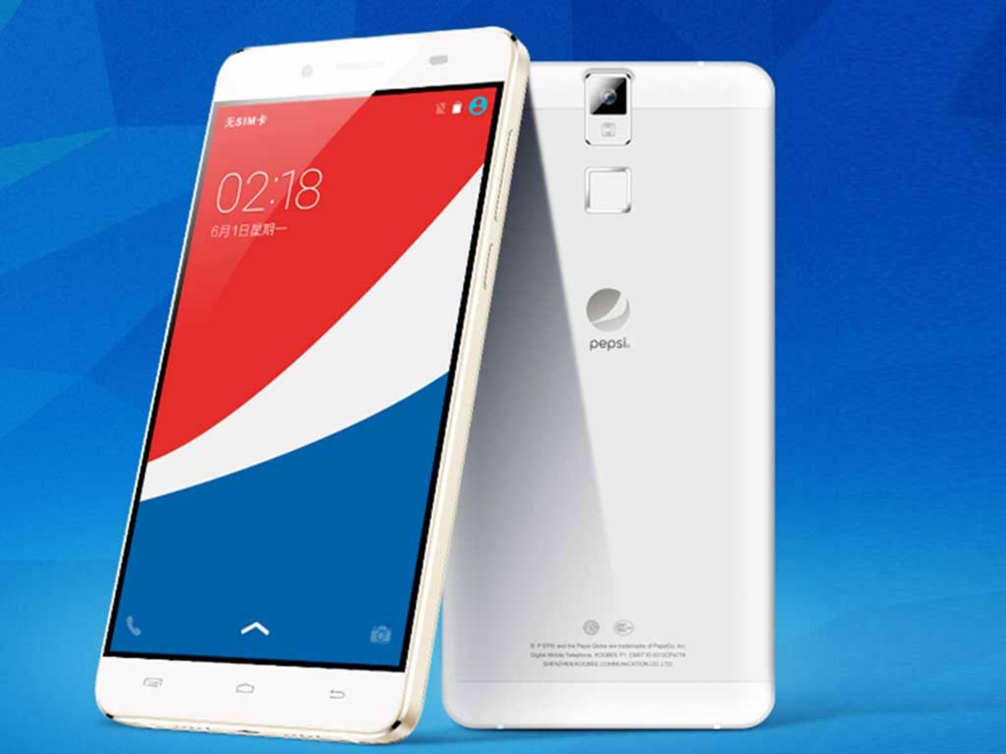 Rein äußerlich unterscheidet sich das Pepsi-Phone kaum von anderen Modellen ...