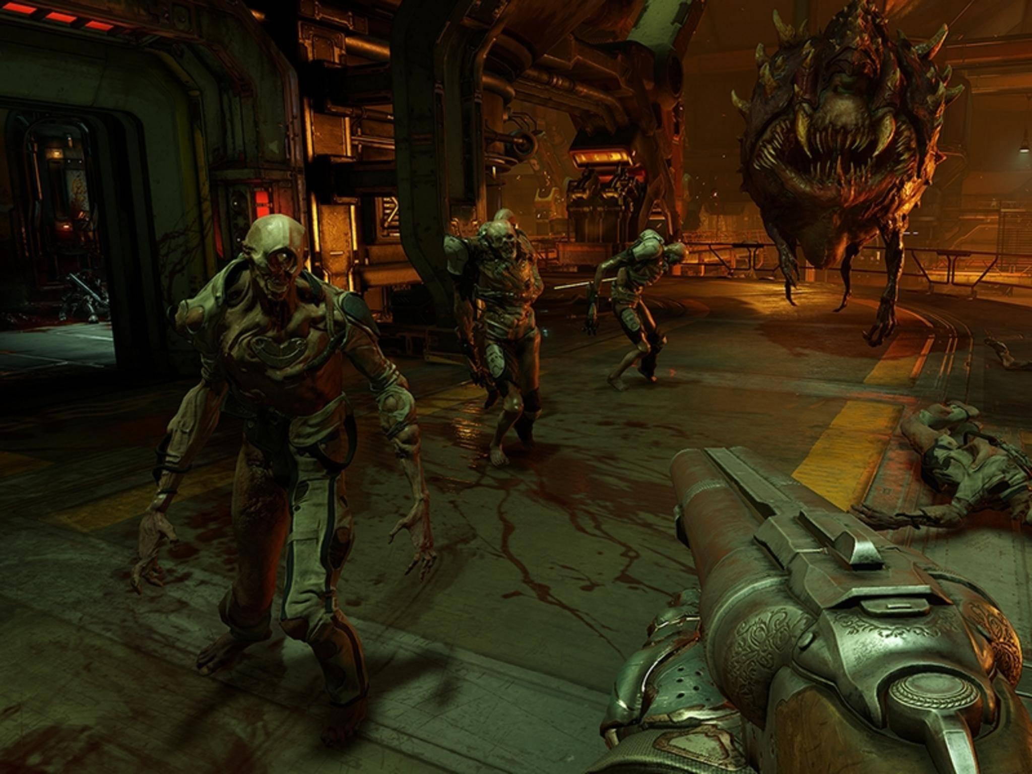"""Shooter-Fans fühlen sich bei """"Doom"""" heimisch."""