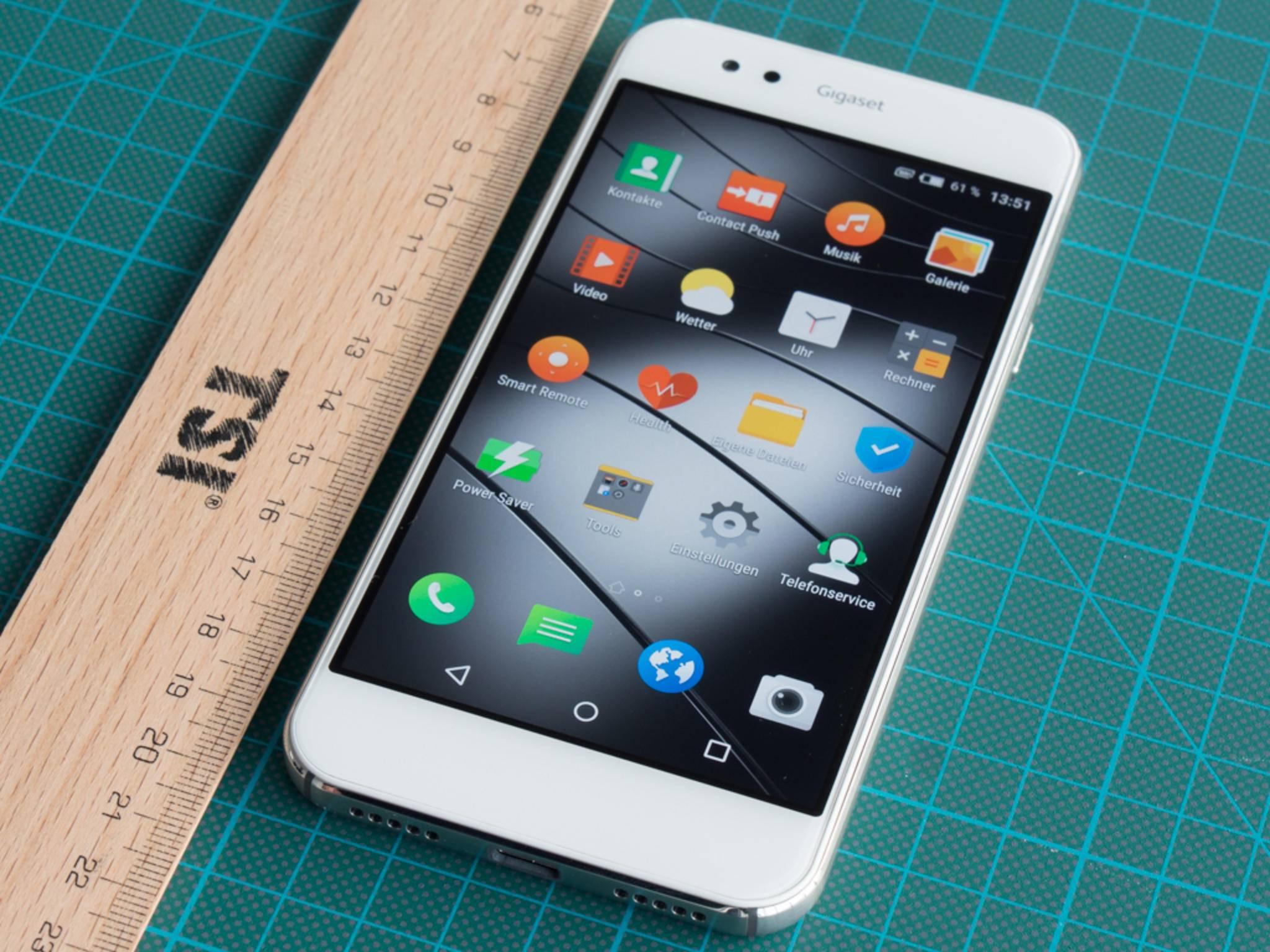 Das Gigaset ME kommt mit vorinstalliertem Android 5.1.1 Lollipop zum Käufer.
