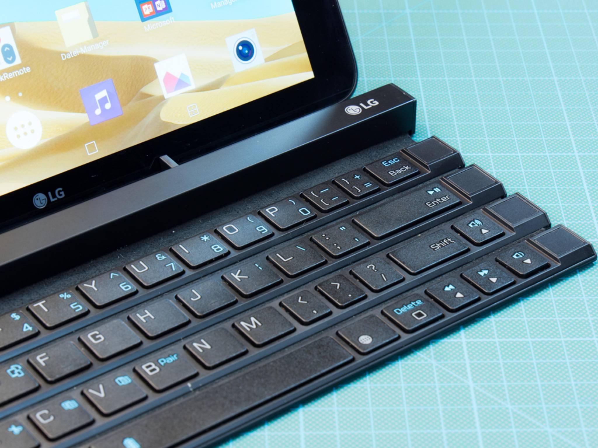 Das LG Rolly Keyboard muss sich in unserem Test beweisen.