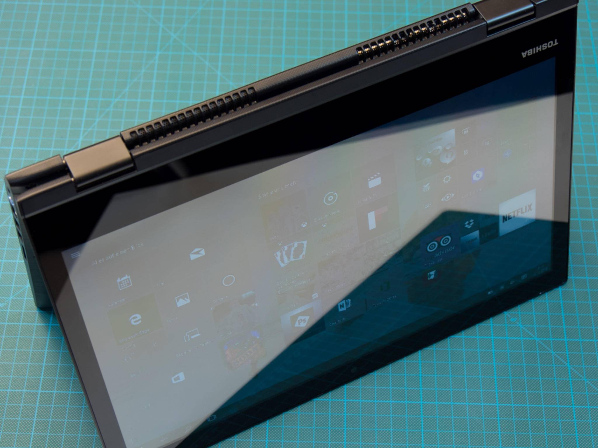 Das Display ist natürlich Touch-optimiert.