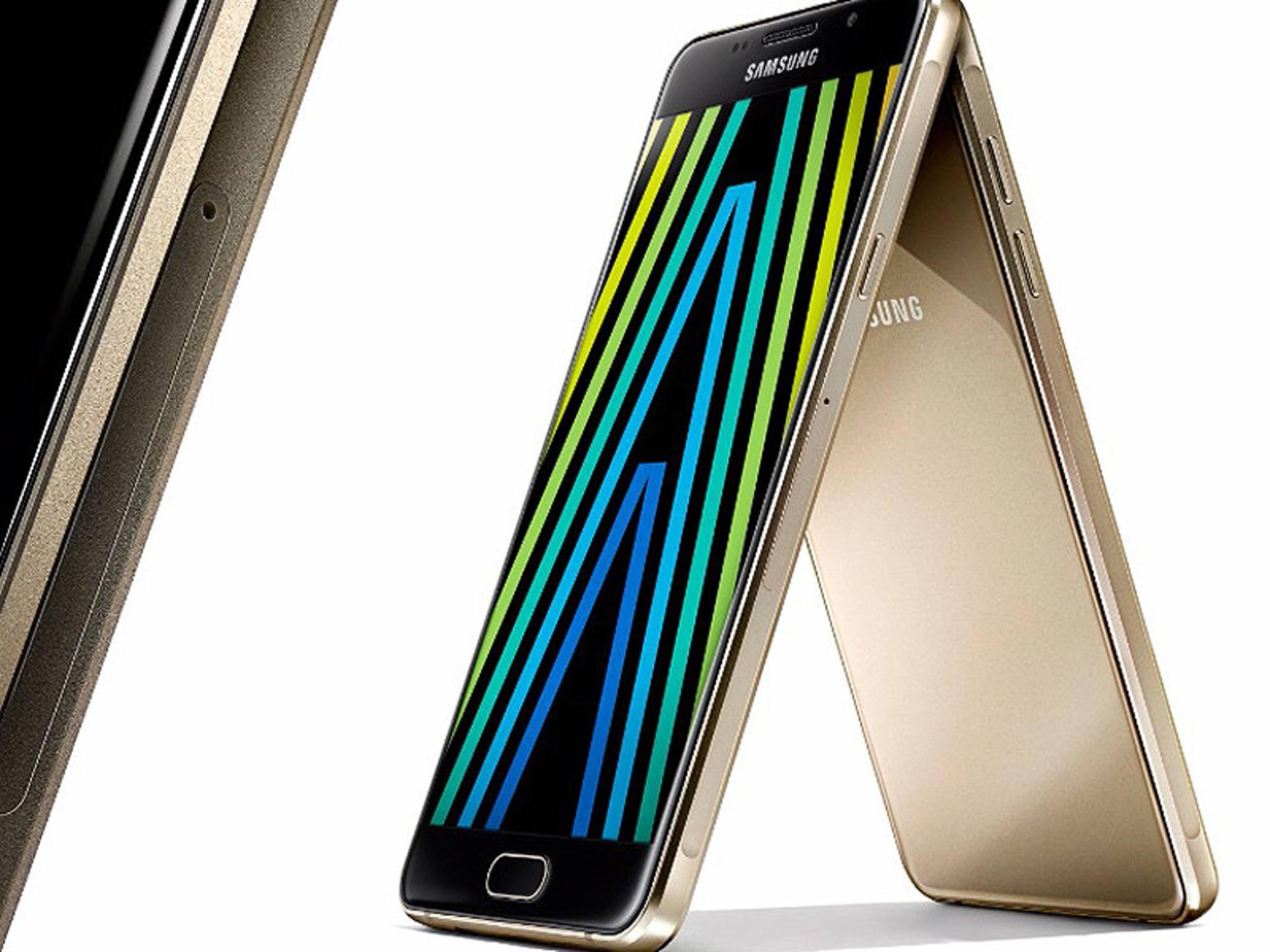 Das Galaxy A5 (2016) erscheint hierzulande Mitte Januar.