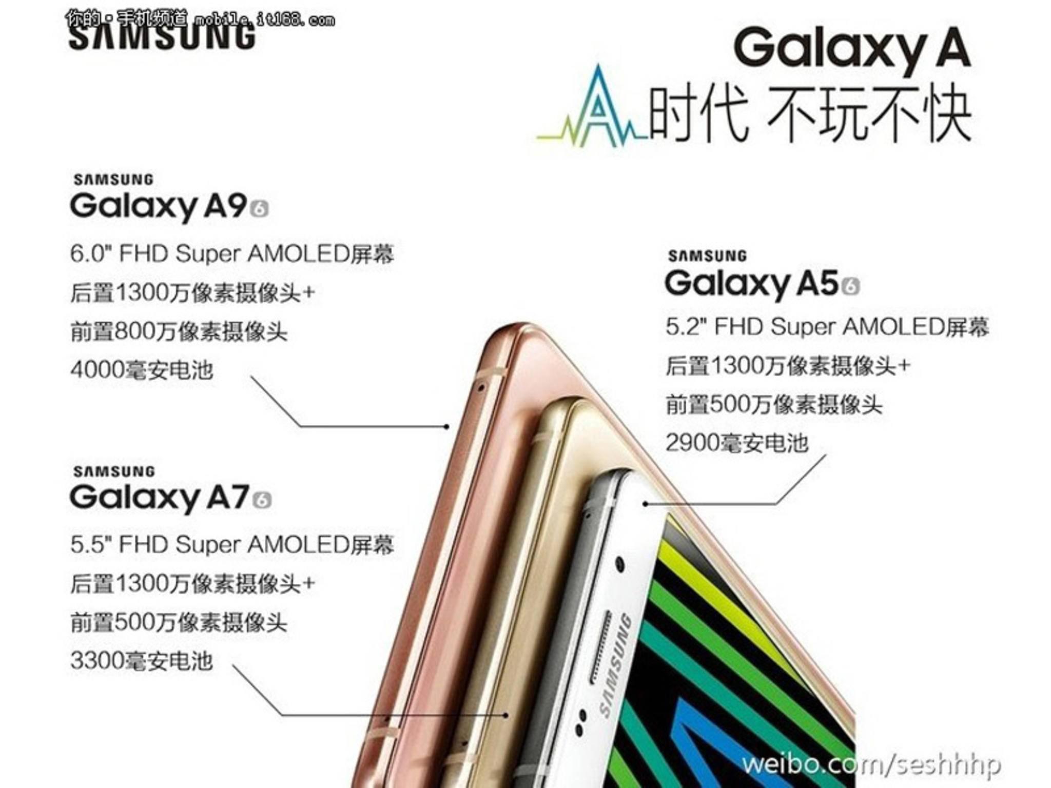 Dieser Promo-Leak enthüllt das Galaxy A9 mit AMOLED-Screen und 6 Zoll.
