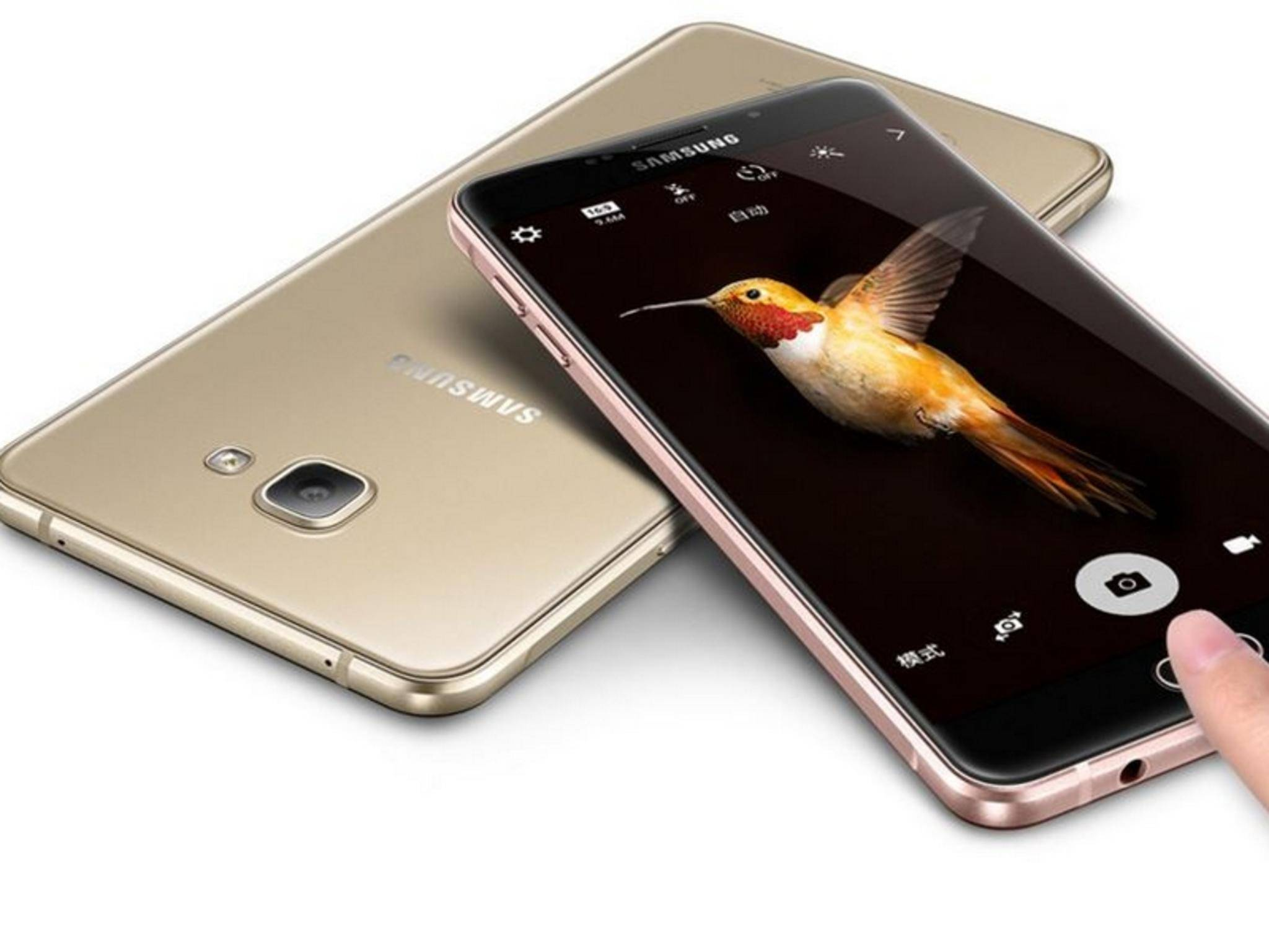 Wie das Galaxy A9 soll auch das Galaxy C5 aus Metall und Glas bestehen.