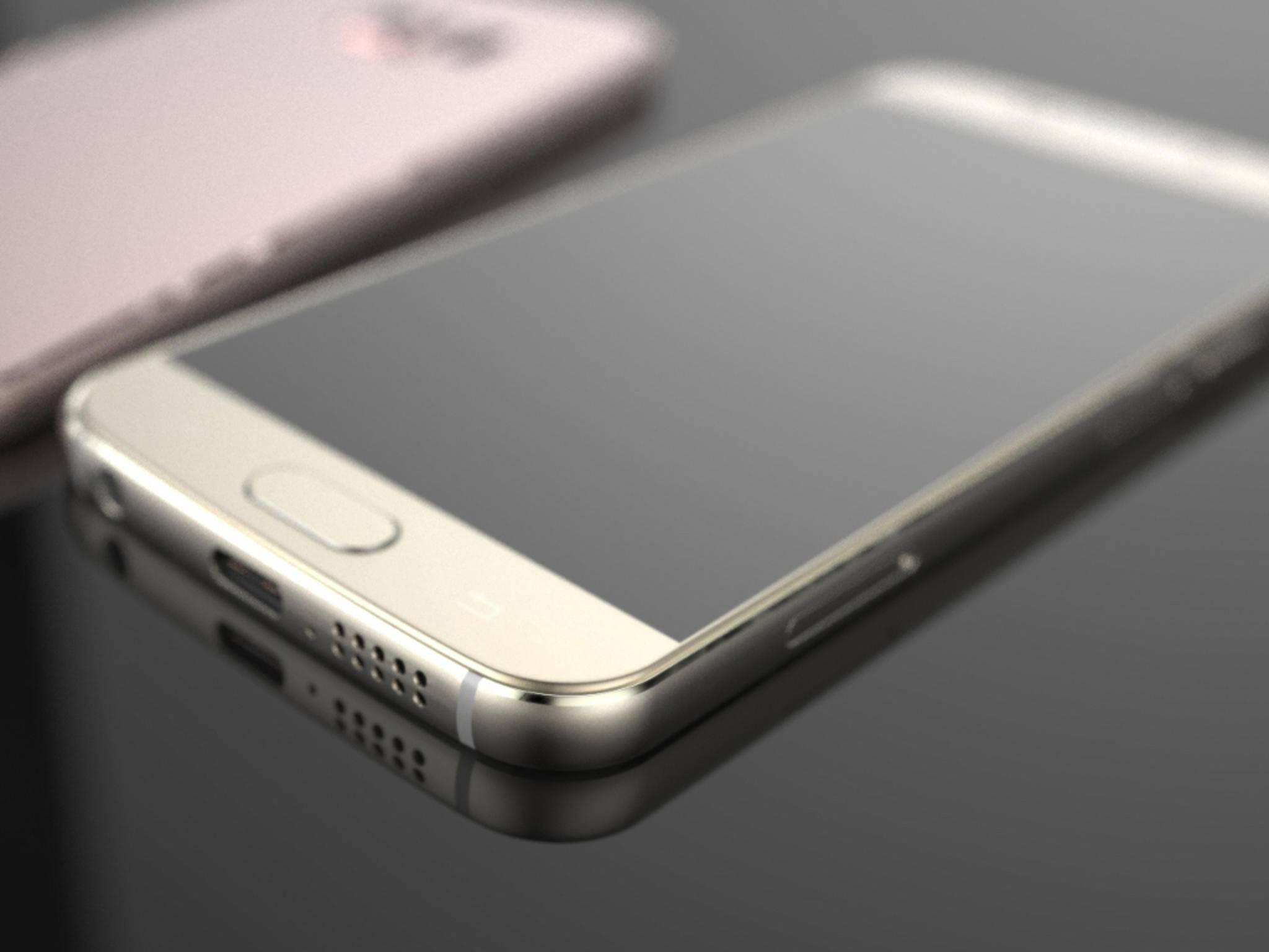 Das Galaxy S7 in einem Render-Konzept.