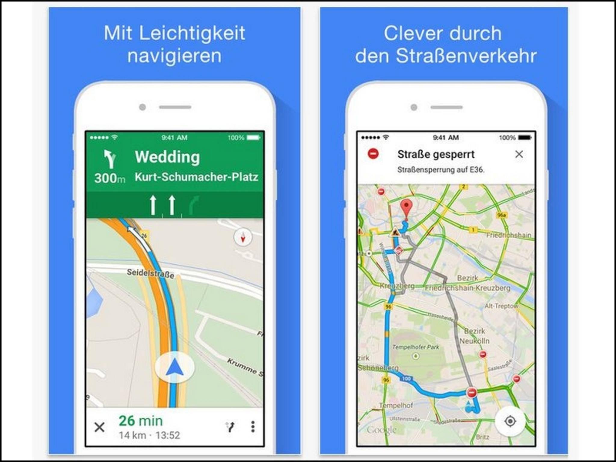 Google Maps ist die wohl beste Karten-App für iOS.