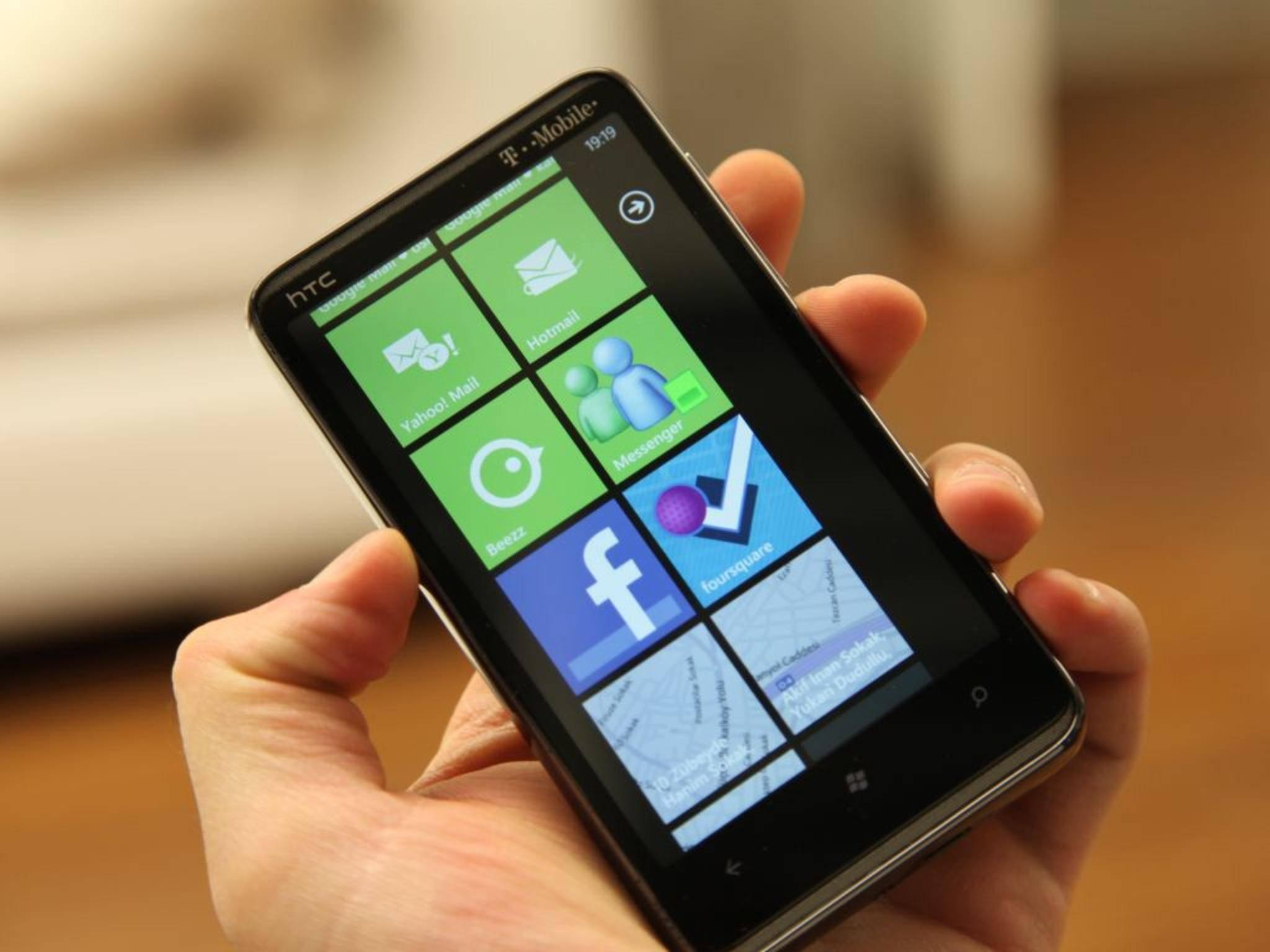 Auf dem Vorgängermodell des 2010 erschienen HTC HD7 läuft Android 6.0 Marshmallow.