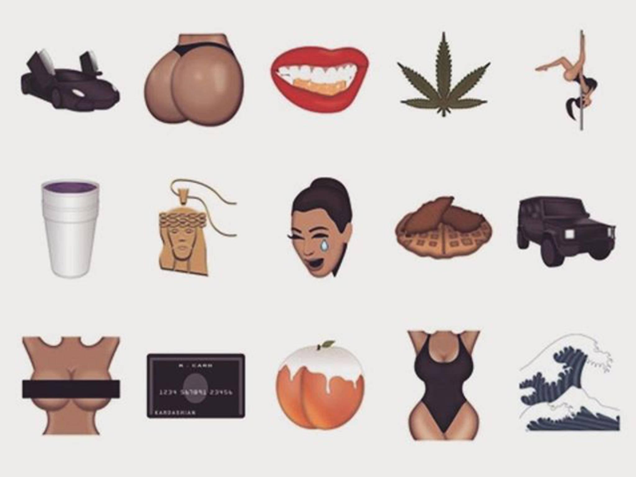 Diese Emojis stehen unter anderem in Kimoji zur Auswahl.