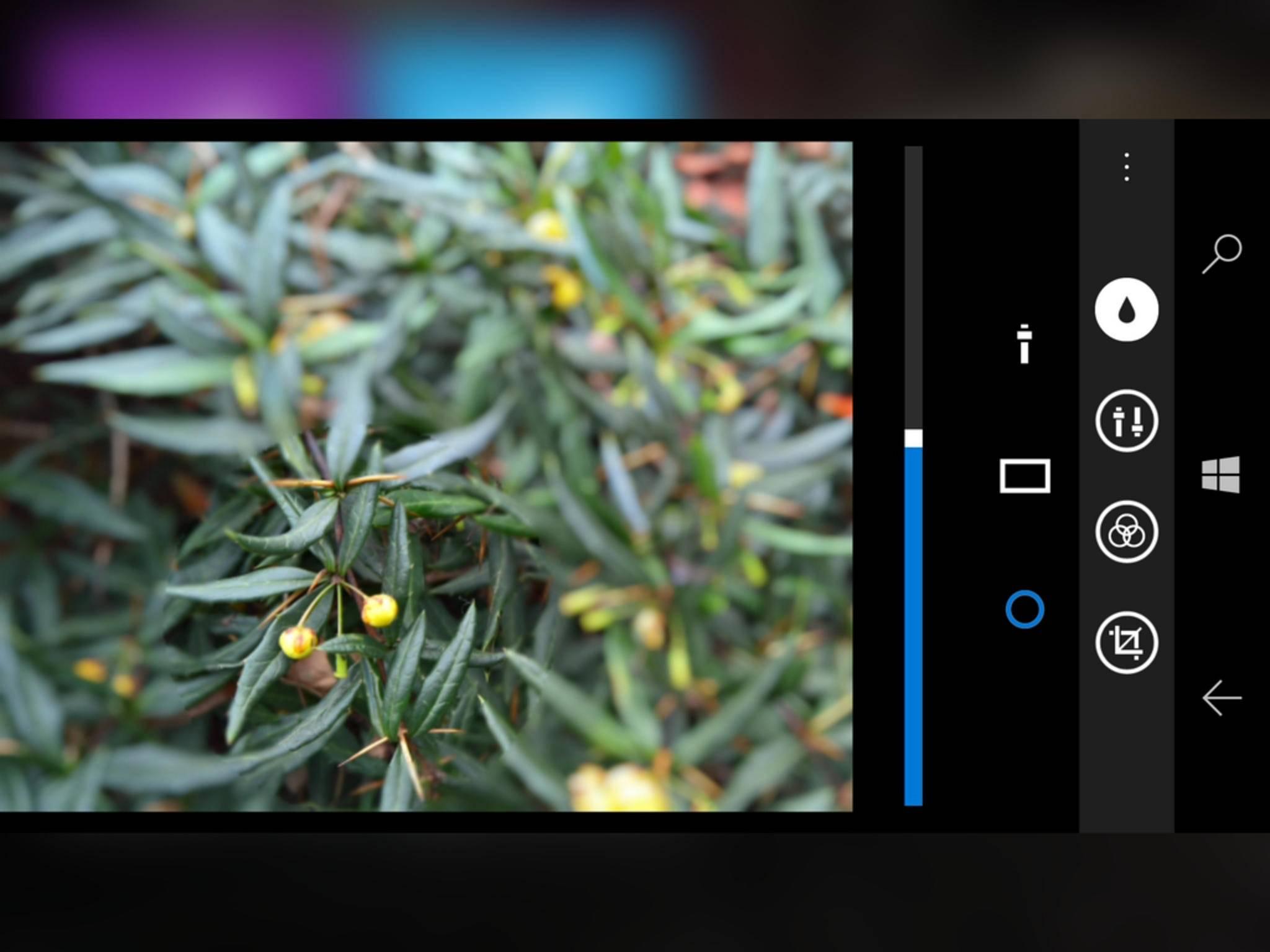 ...hilft ebenfalls das Lumia Creative Studio.