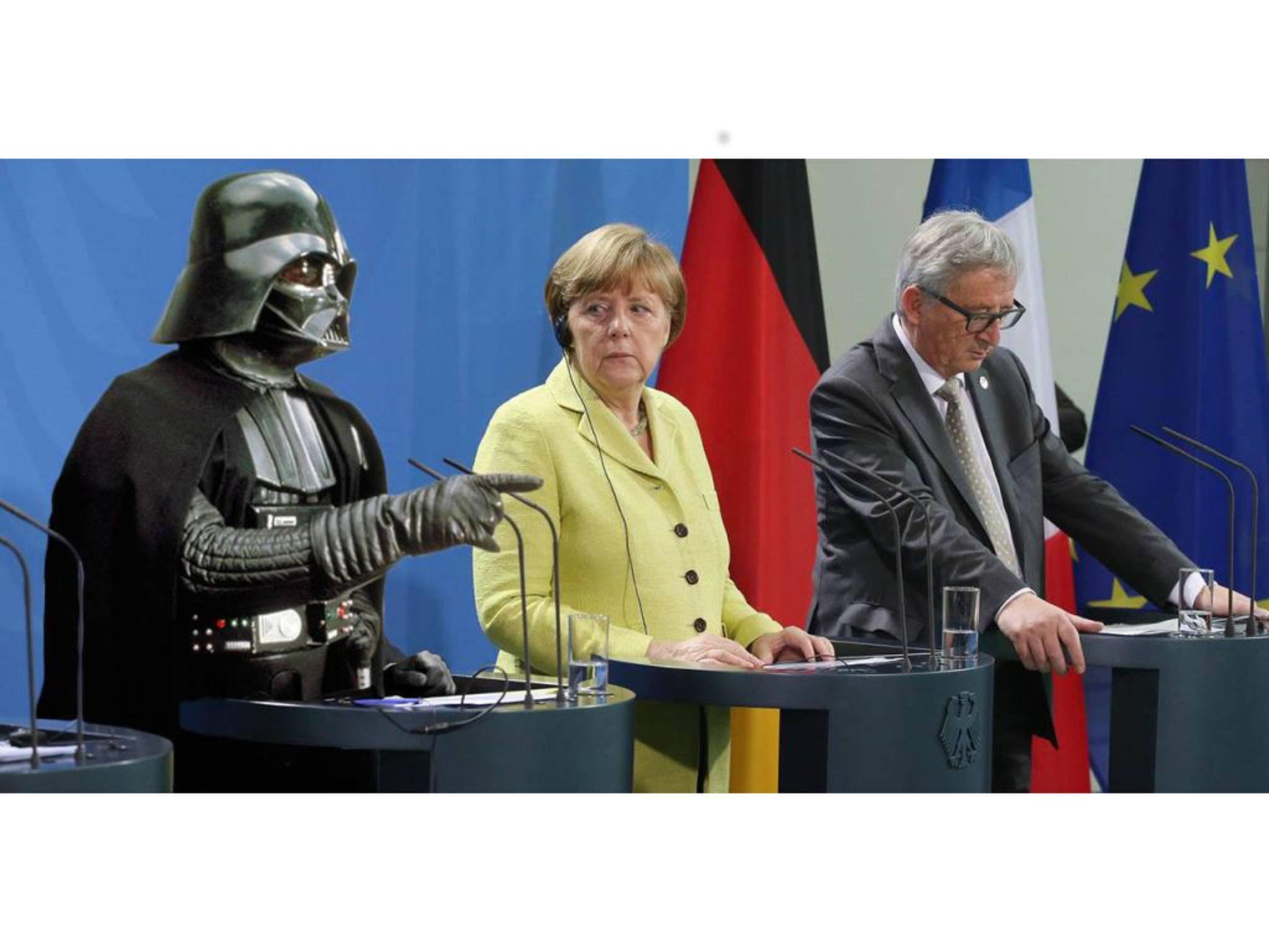 """Wer hat mir die WhatsApp-Nachricht geschickt? """"Er war's,"""" behauptet Darth Vader."""