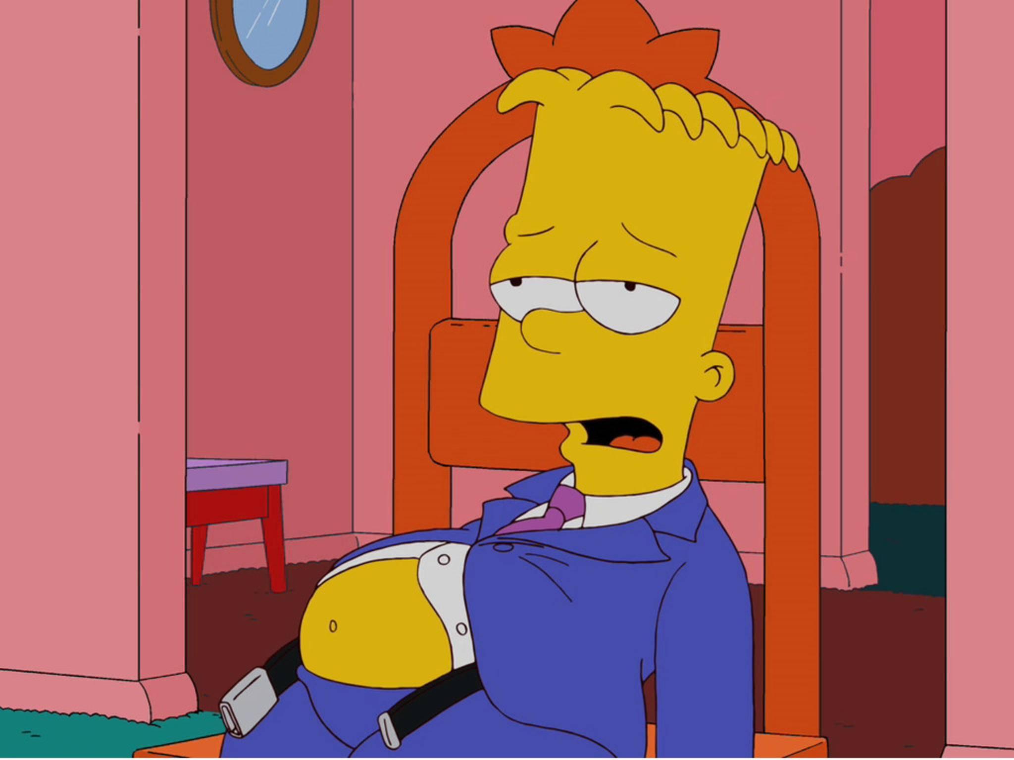 Bart Simpson hat wohl ordentlich zugeschlagen.