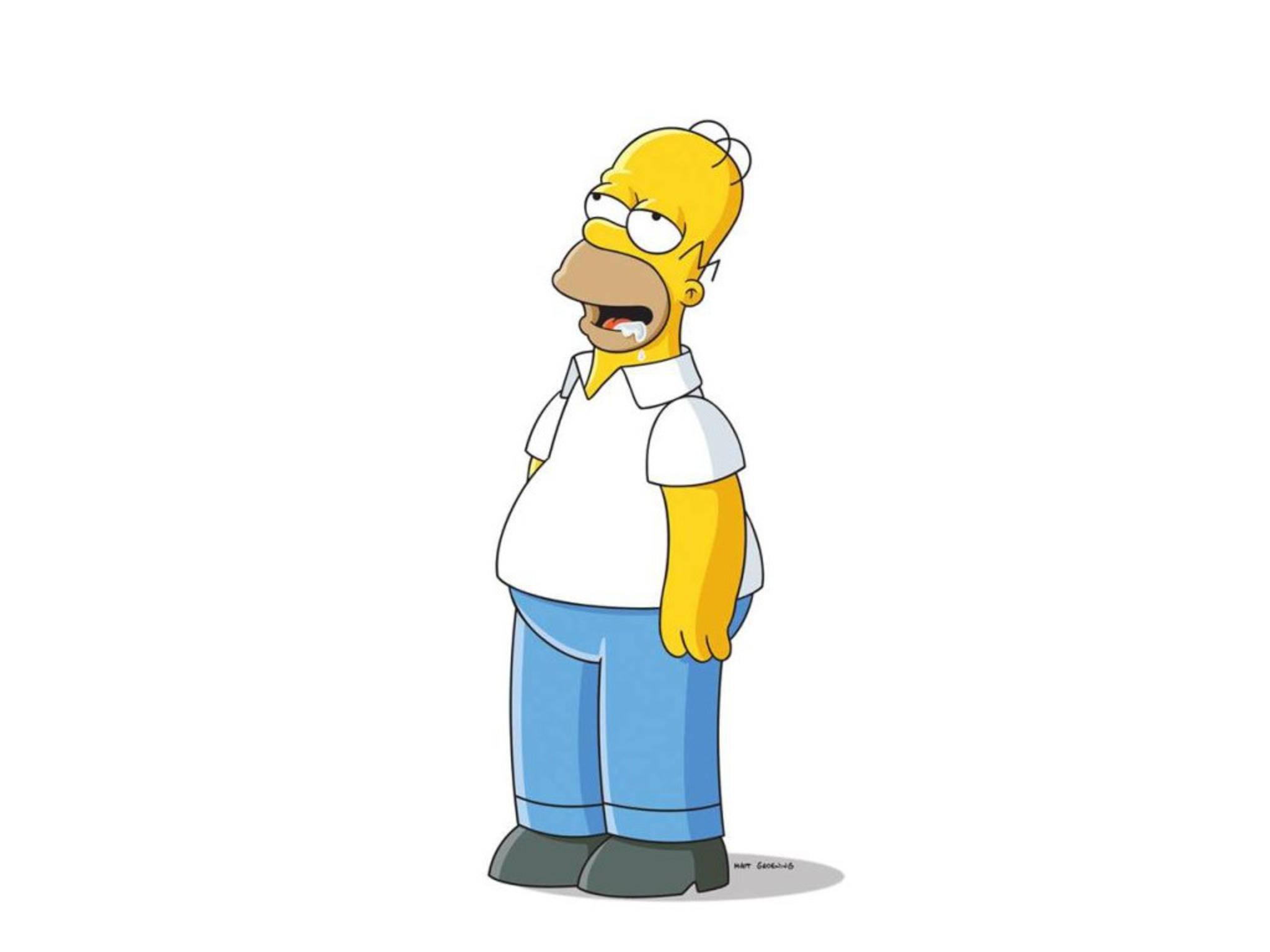 Homer Simpson läuft schon das Wasser im Mund zusammen.