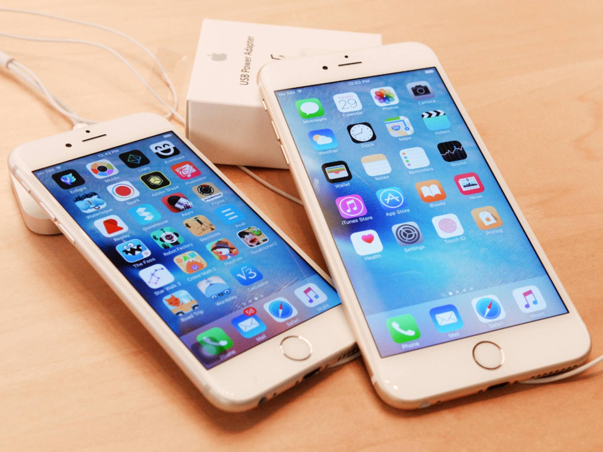 iPhone 6s und iPhone 6s Plus haben auf dem Homescreen Platz für 28 Apps.