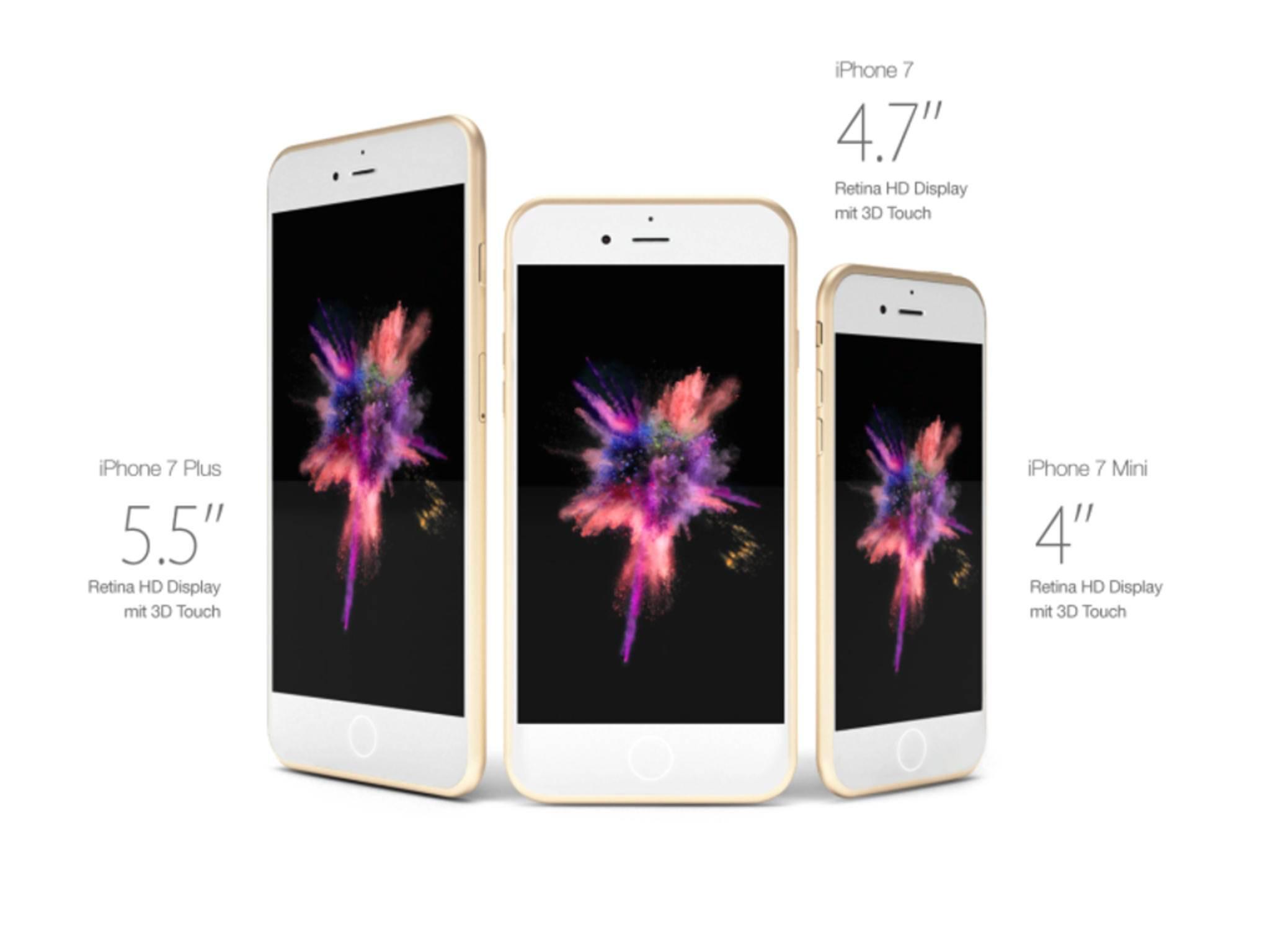 Dieses iPhone 7-Konzept beinhaltet sogar eine 4-Zoll-Version.