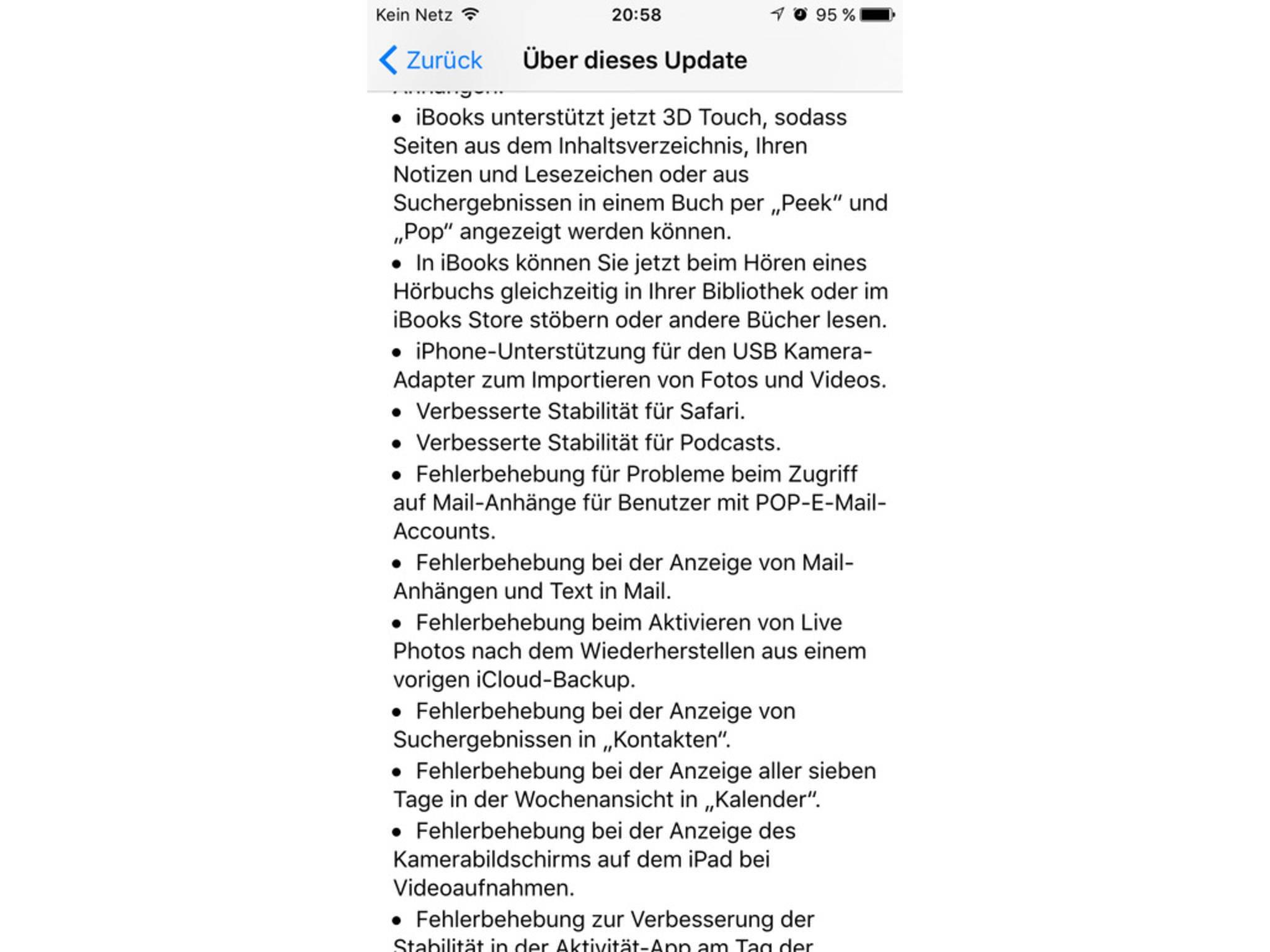 Das bringt das Update auf iOS 9.2.