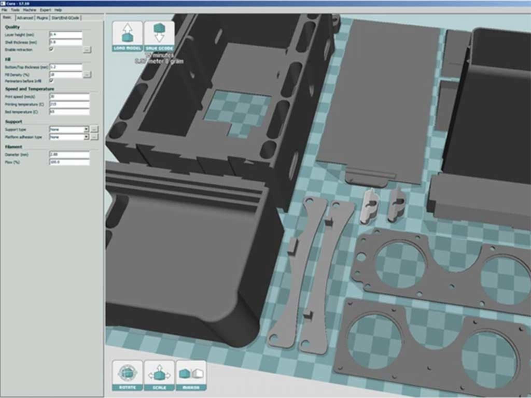 Die Baupläne fürSLY3D: Wer will, kann sich das Gerät auch selber ausdrucken.