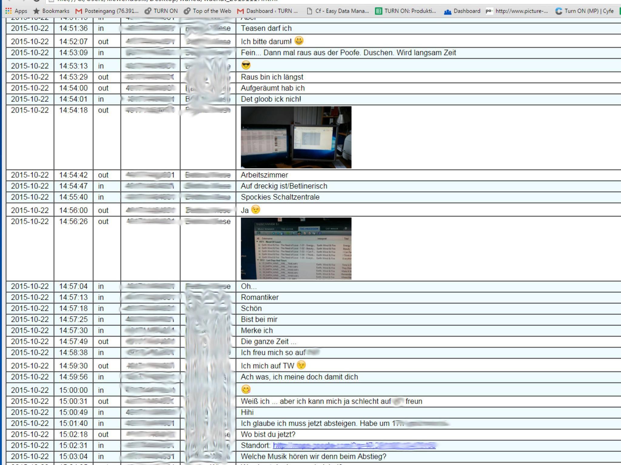 ... oder auch als übersichtliche Web-Tabelle.