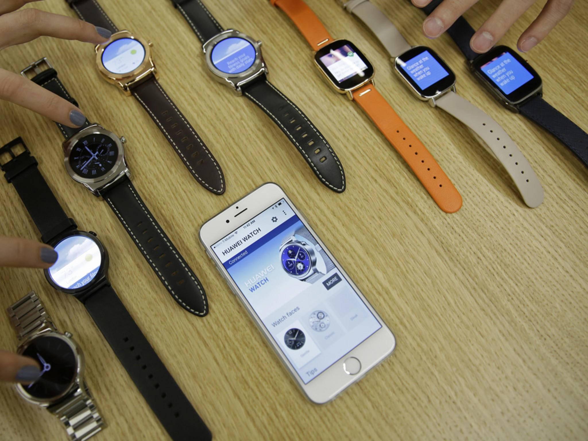 Android Wear arbeitet auch mit dem iPhone zusammen.