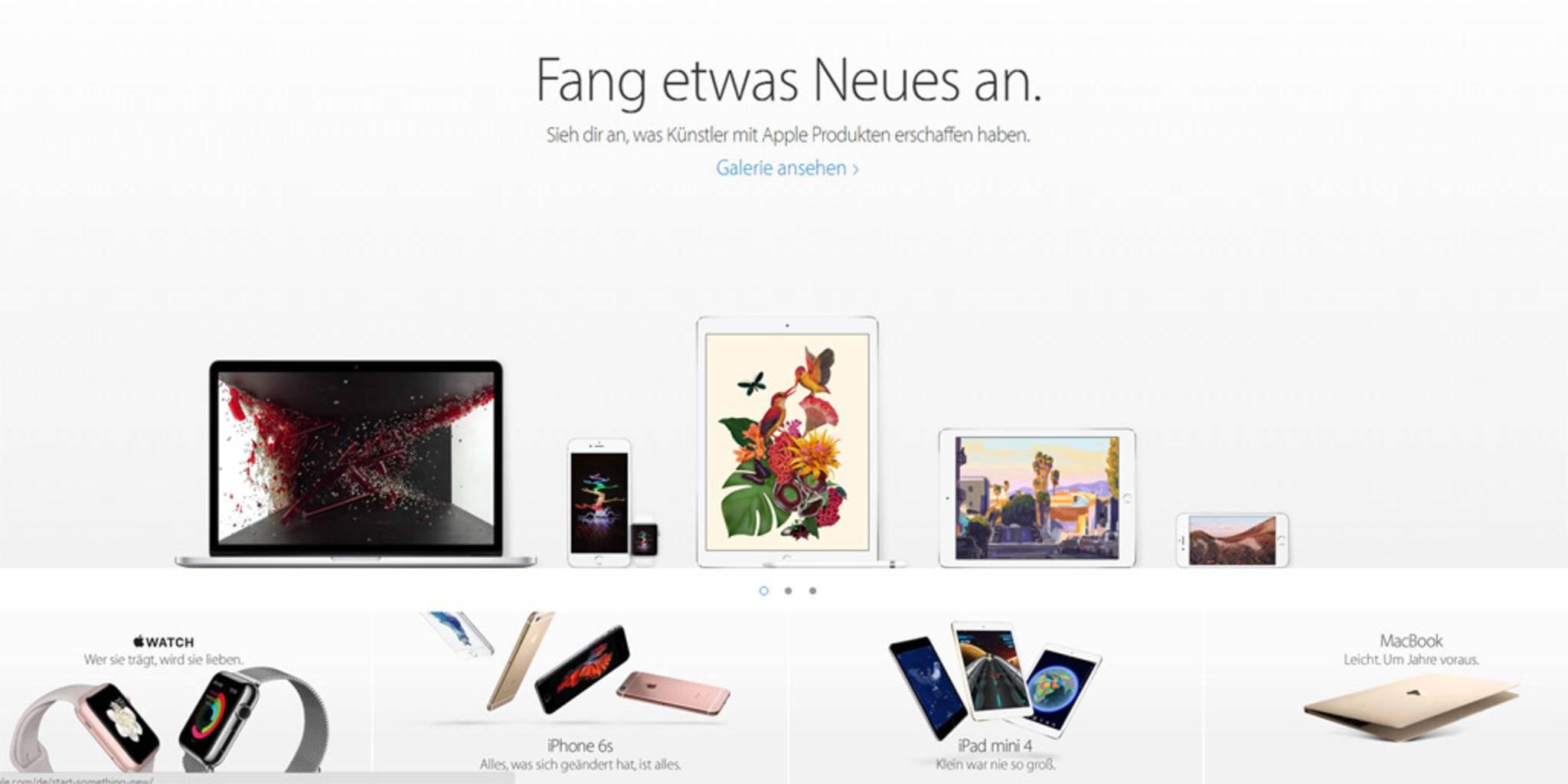 Heutzutage zeigt sich Apple in Sachen Webdesign absolut stilsicher.