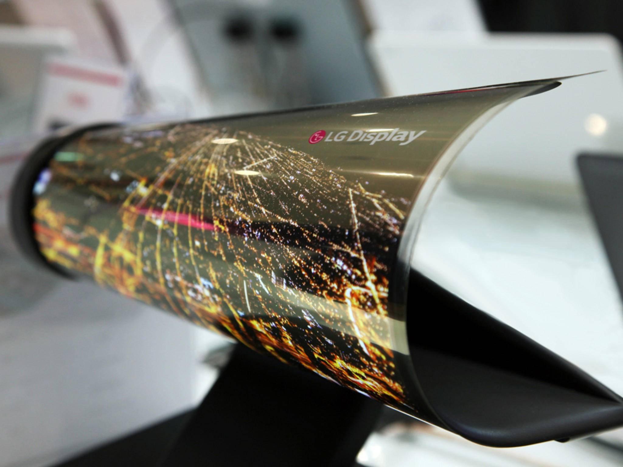 LG zeigte aufrollbare Displays auf der CES 2016.