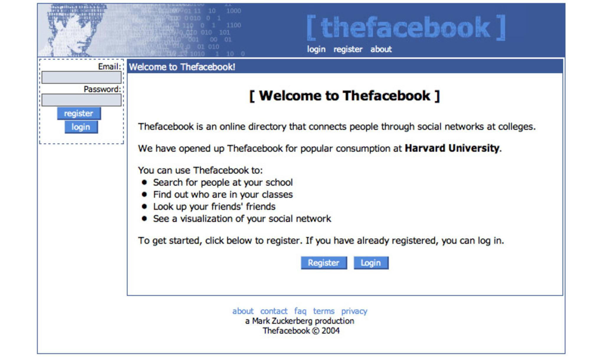 2004 wurde Facebook gegründet – anfangs nur für Studenten.