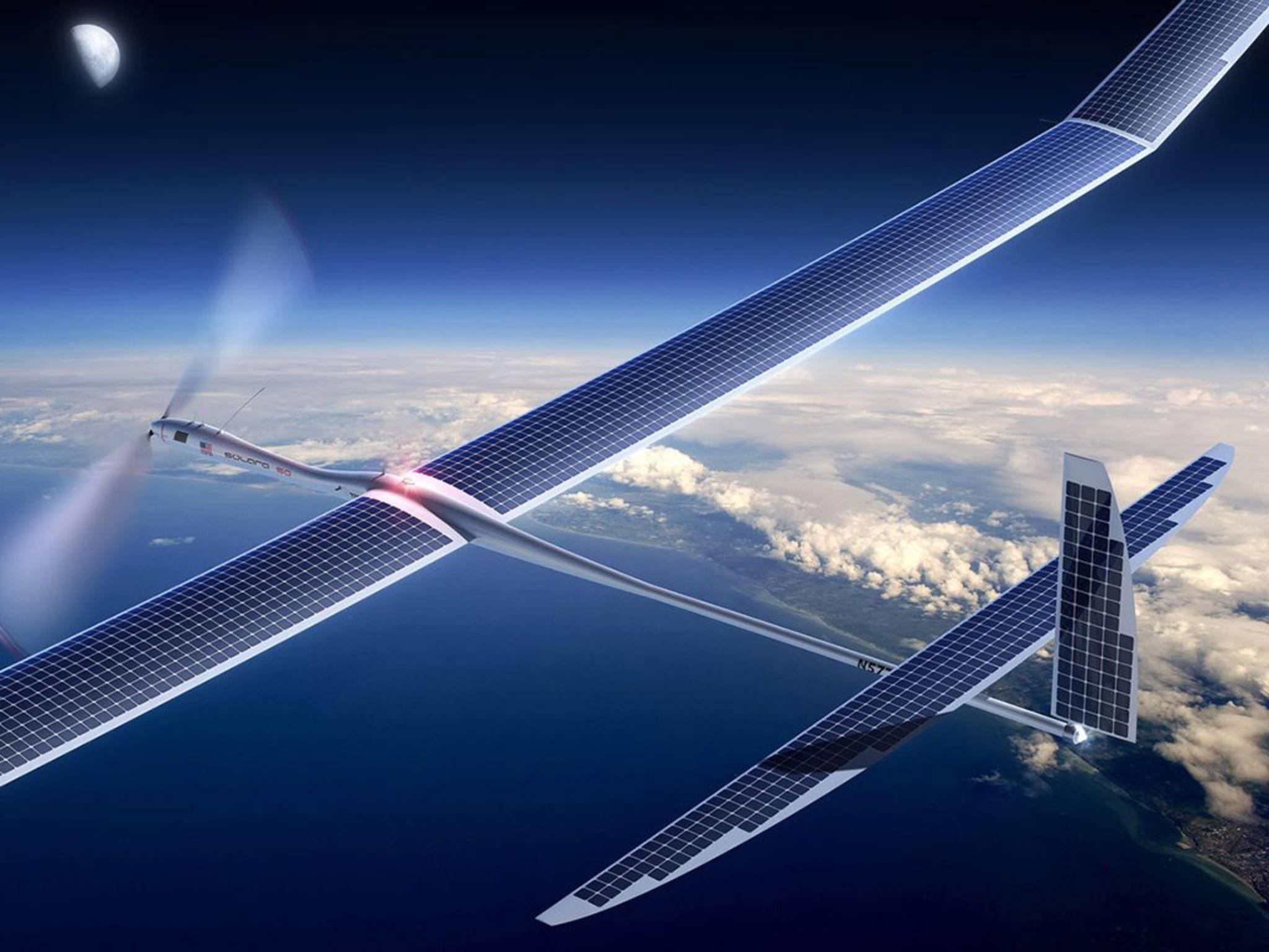 Google plane offenbar, mithilfe von Solardrohnen schnelles Internet zu liefern.