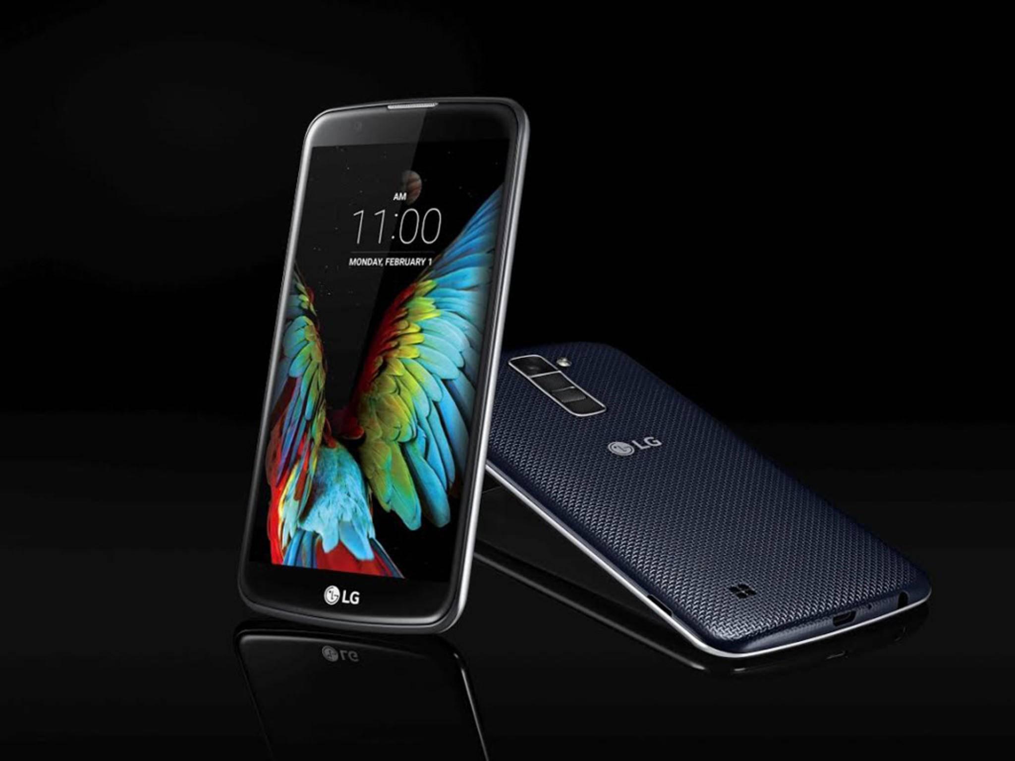 Das LG K10 wurde auf der CES vorgestellt.