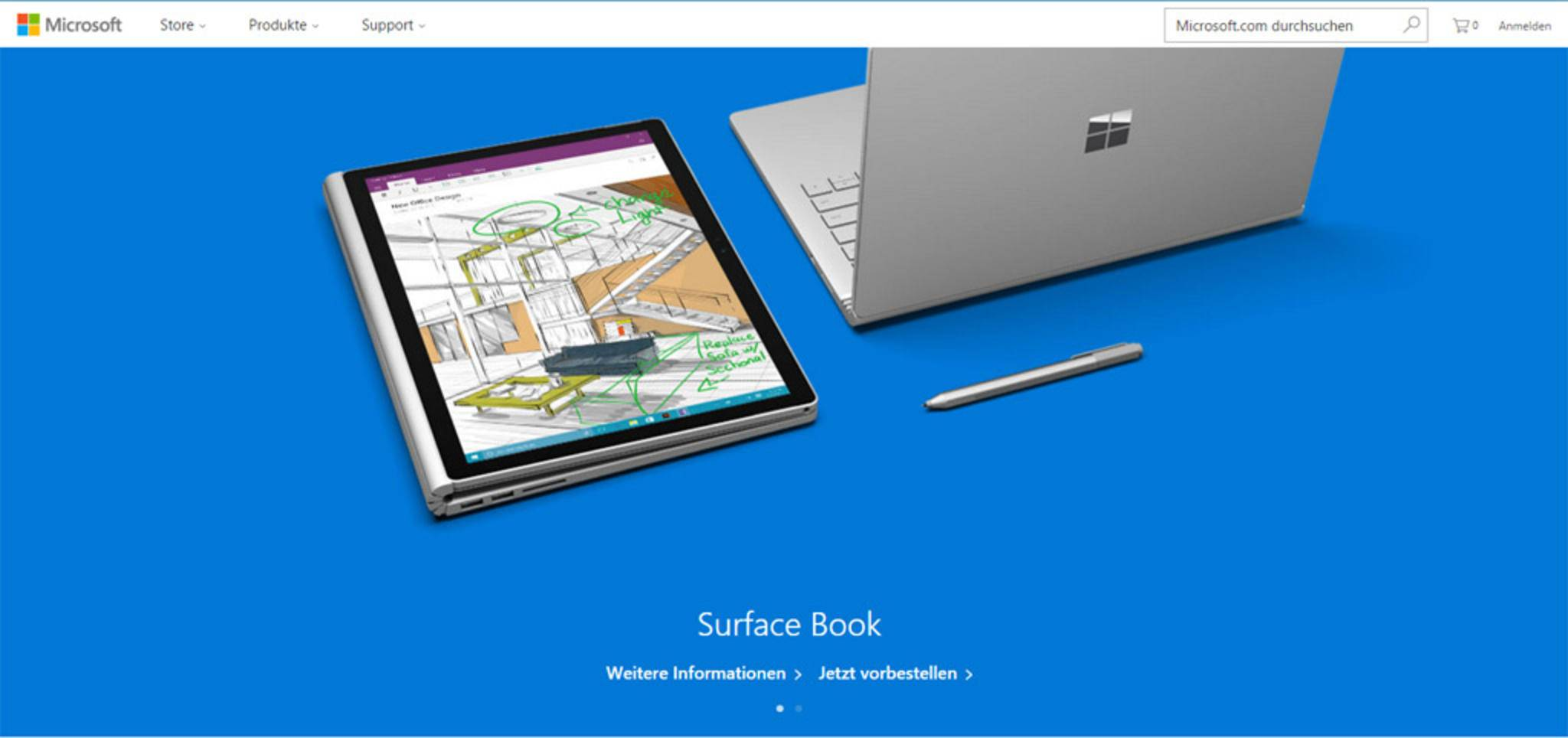 Heute beweist Microsoft mehr Geschmack und präsentiert sich farbenfroh.