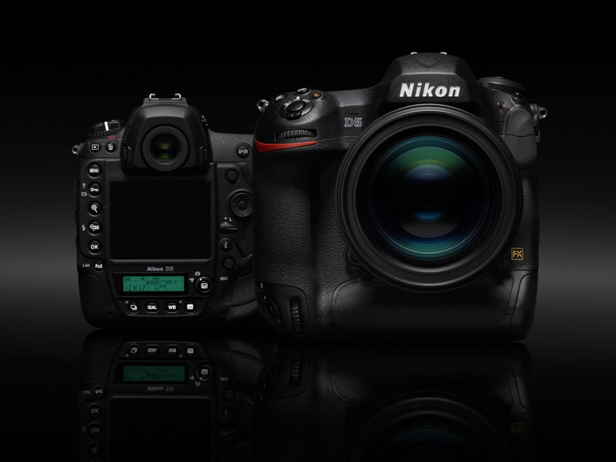 Teures Spitzenmodell: Die neue Nikon D5 wurde auf der CES 2016 vorgestellt.