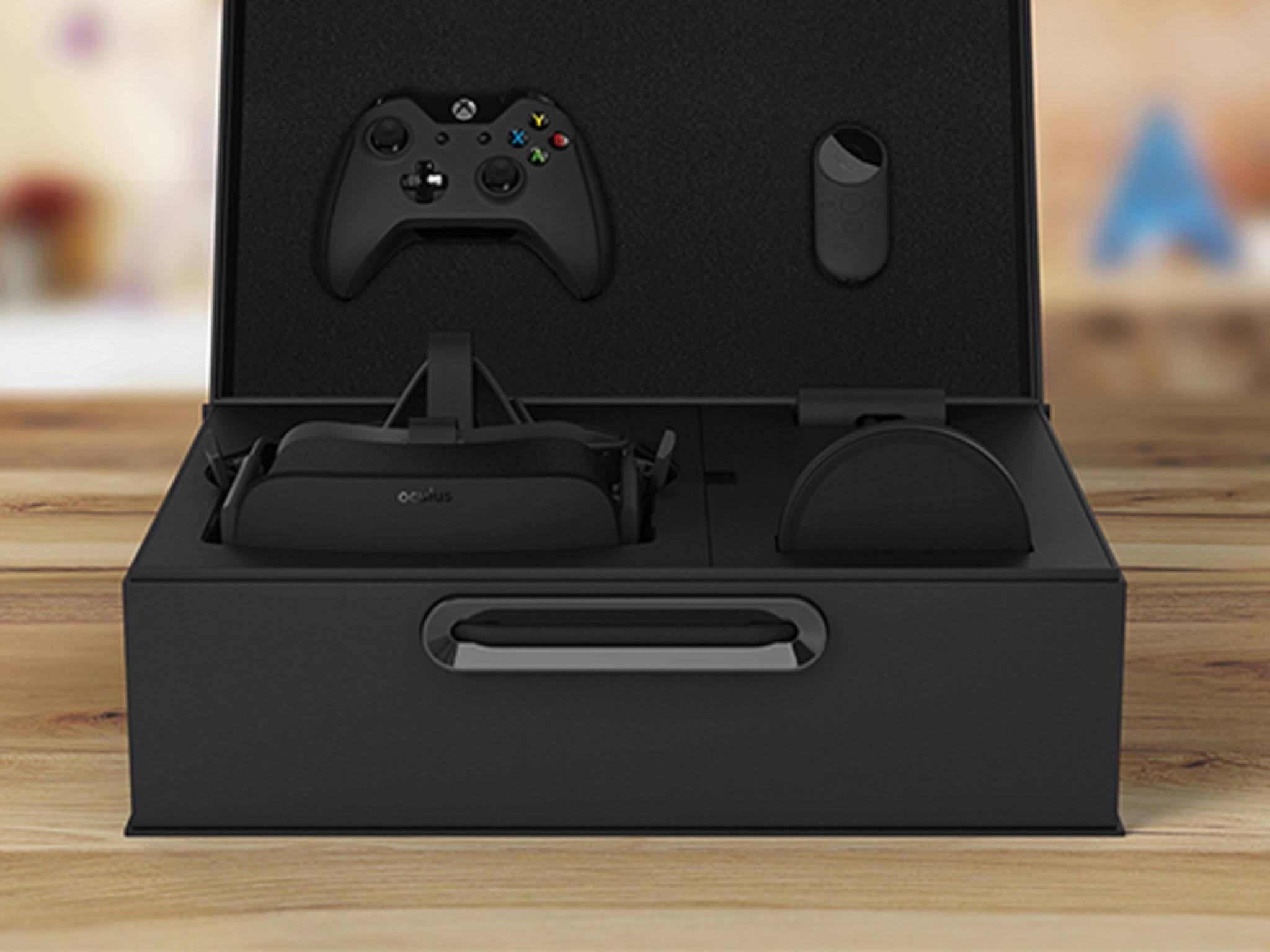 Der Oculus Rift-Packshot: So wird die Brille ausgeliefert.