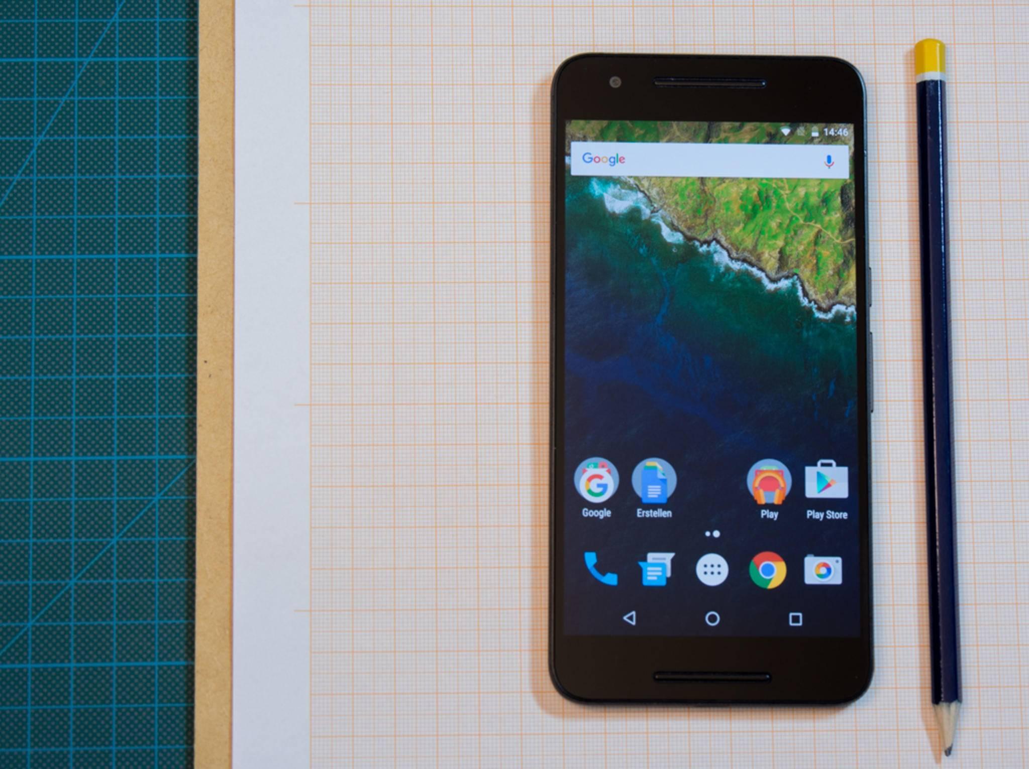 Android 6.0 Marshmallow ist beim Nexus 6P vorinstalliert.
